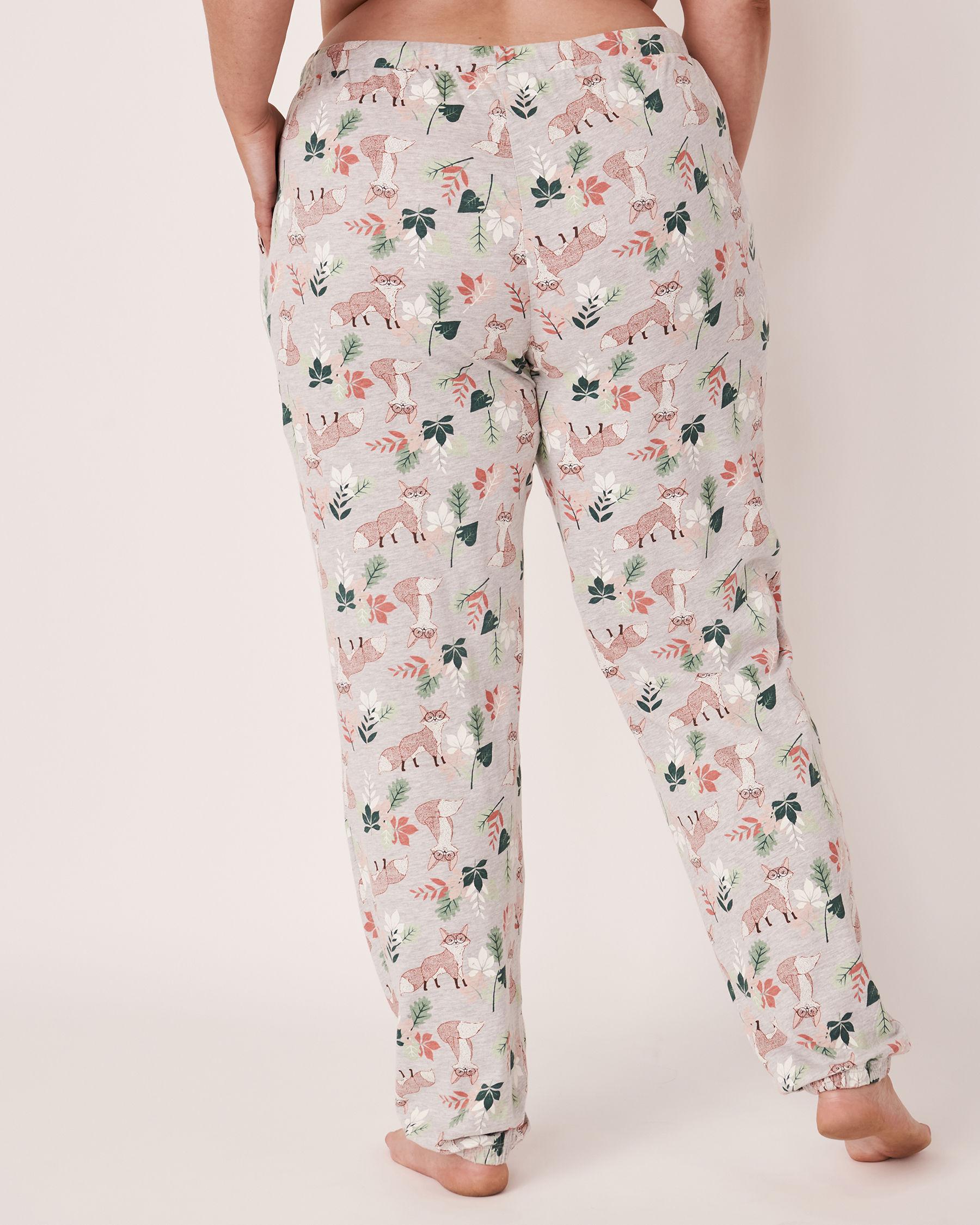 LA VIE EN ROSE Fitted Pyjama Pant Fox print 40200094 - View2