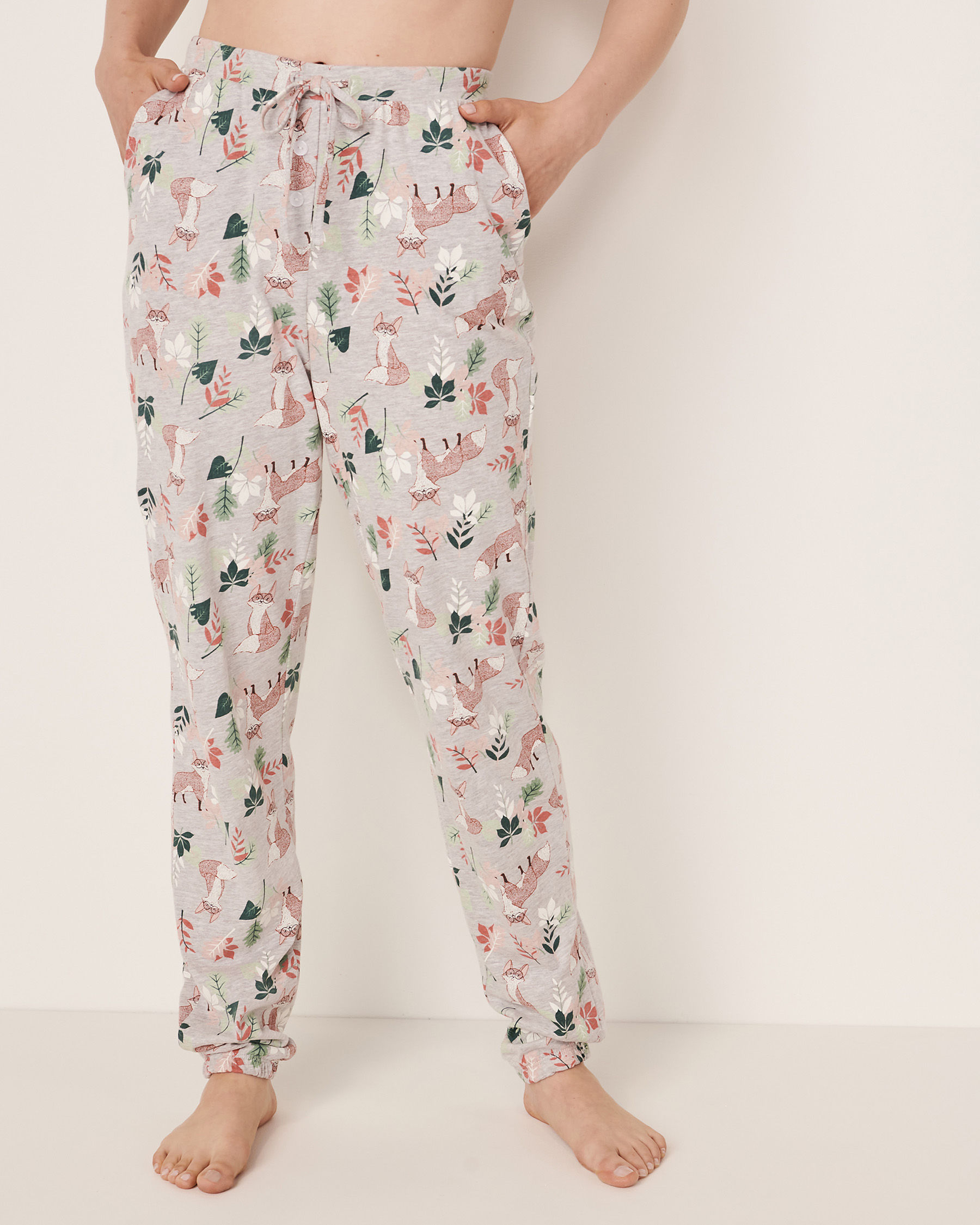 LA VIE EN ROSE Fitted Pyjama Pant Fox print 40200094 - View3