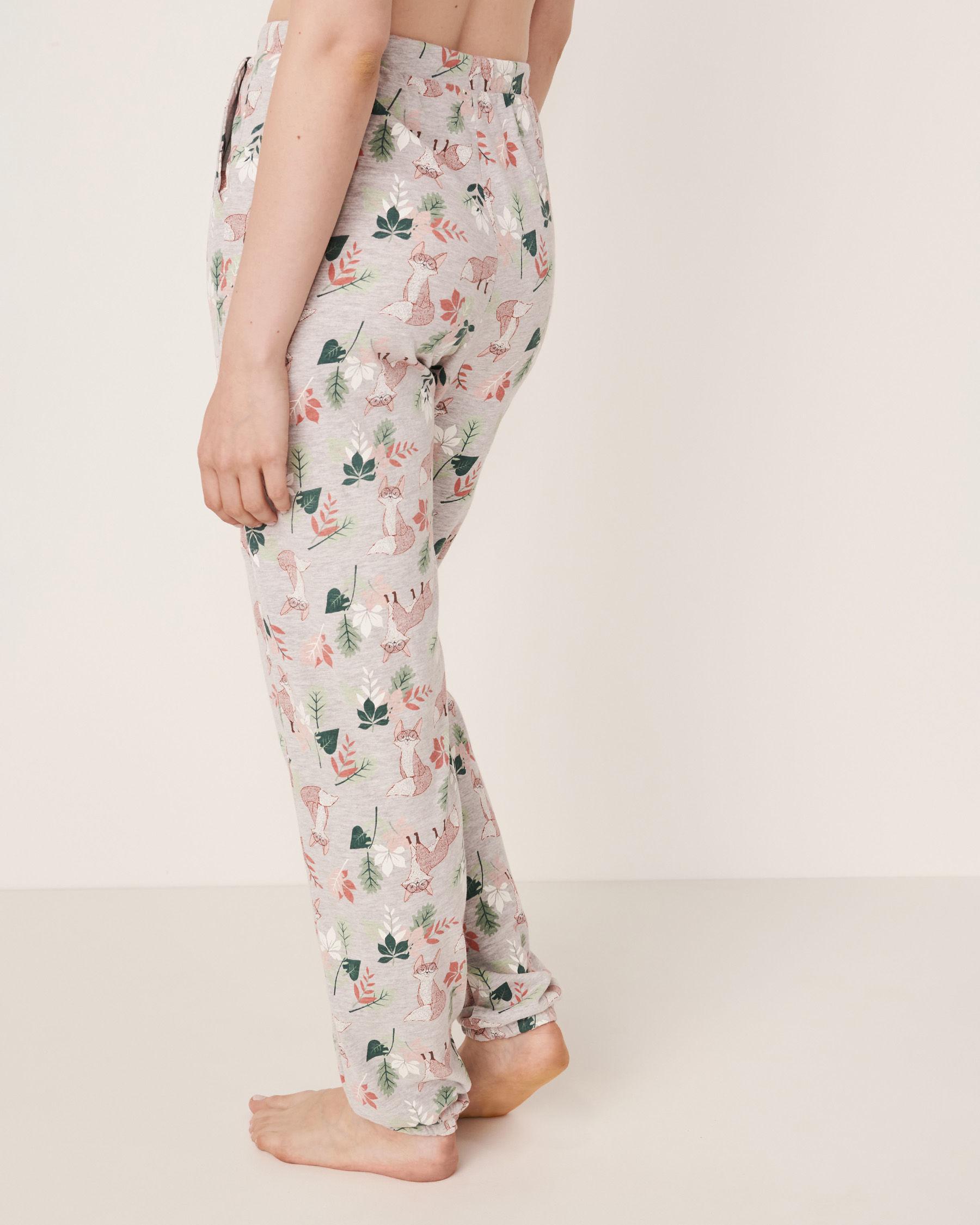 LA VIE EN ROSE Fitted Pyjama Pant Fox print 40200094 - View4