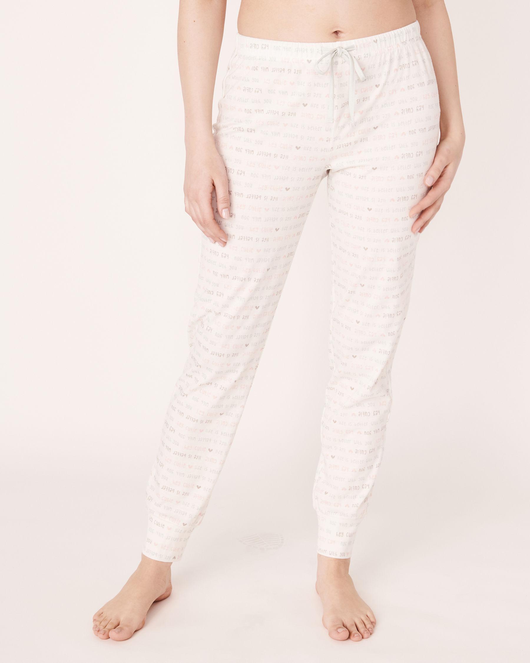 LA VIE EN ROSE Fitted Pyjama Pant Wording 40200105 - View1