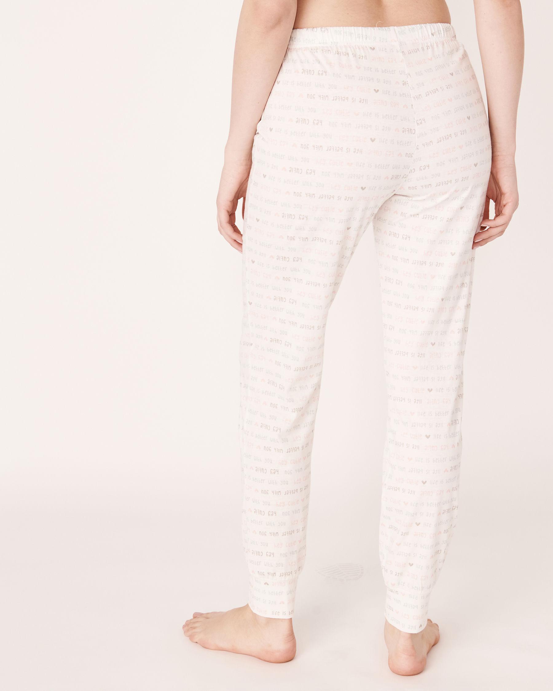 LA VIE EN ROSE Fitted Pyjama Pant Wording 40200105 - View2
