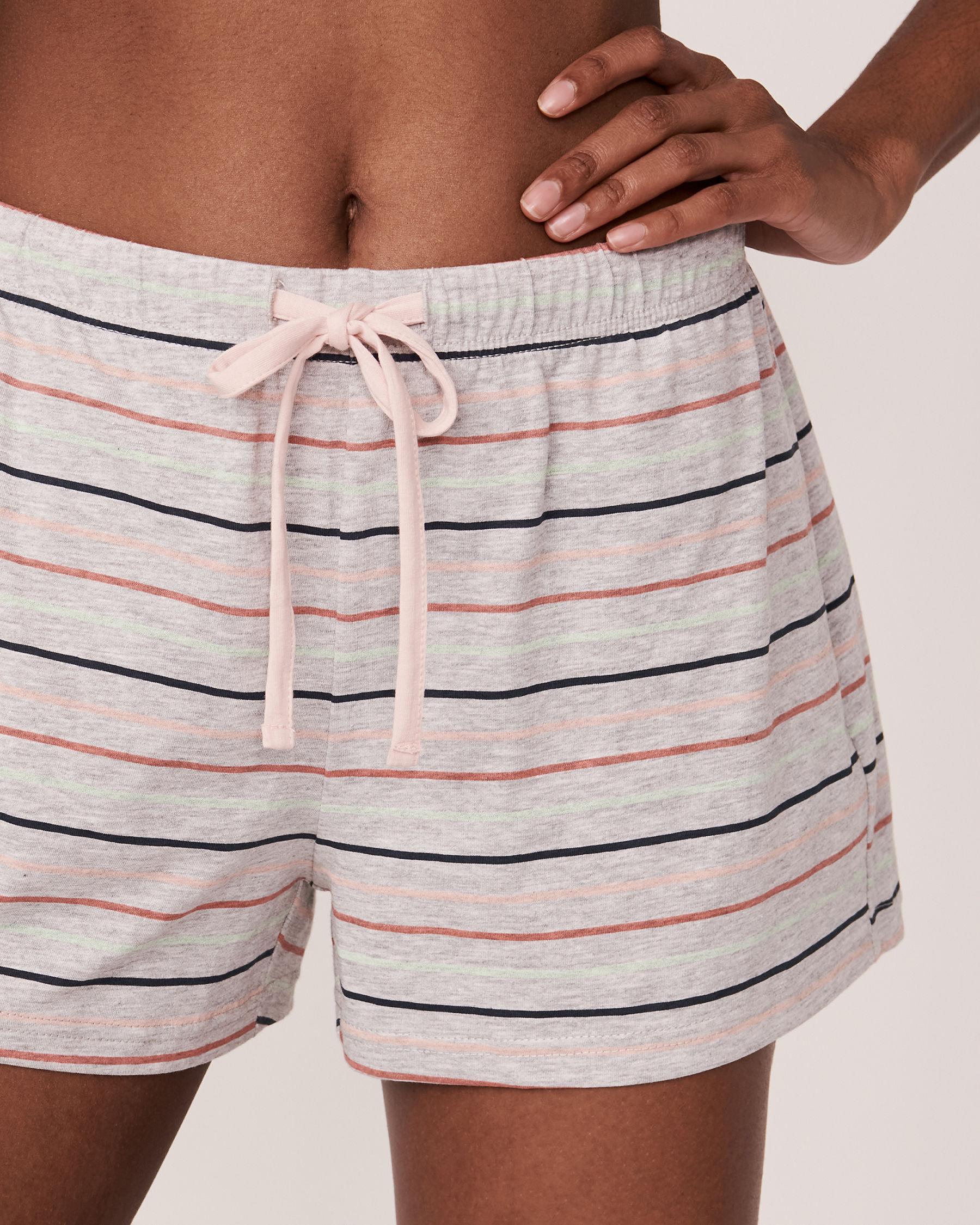 LA VIE EN ROSE Pyjama Short with Drawstring Multi stripe mix 40200107 - View1