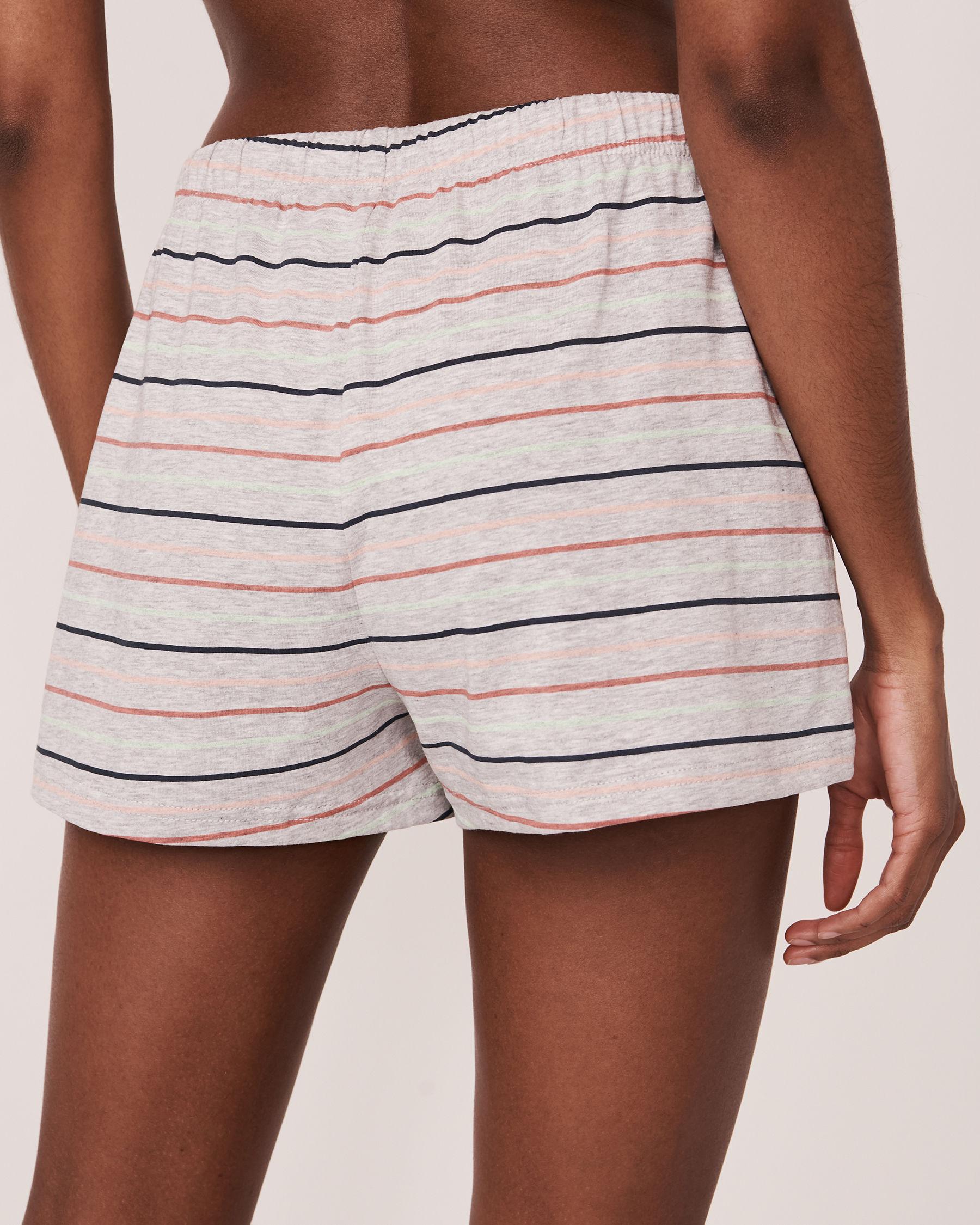 LA VIE EN ROSE Pyjama Short with Drawstring Multi stripe mix 40200107 - View2