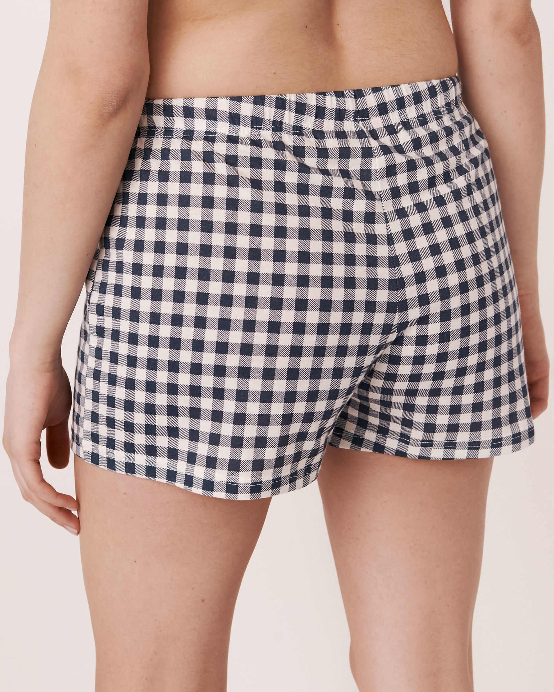 LA VIE EN ROSE Pyjama Short with Drawstring Vichy navy 40200107 - View2