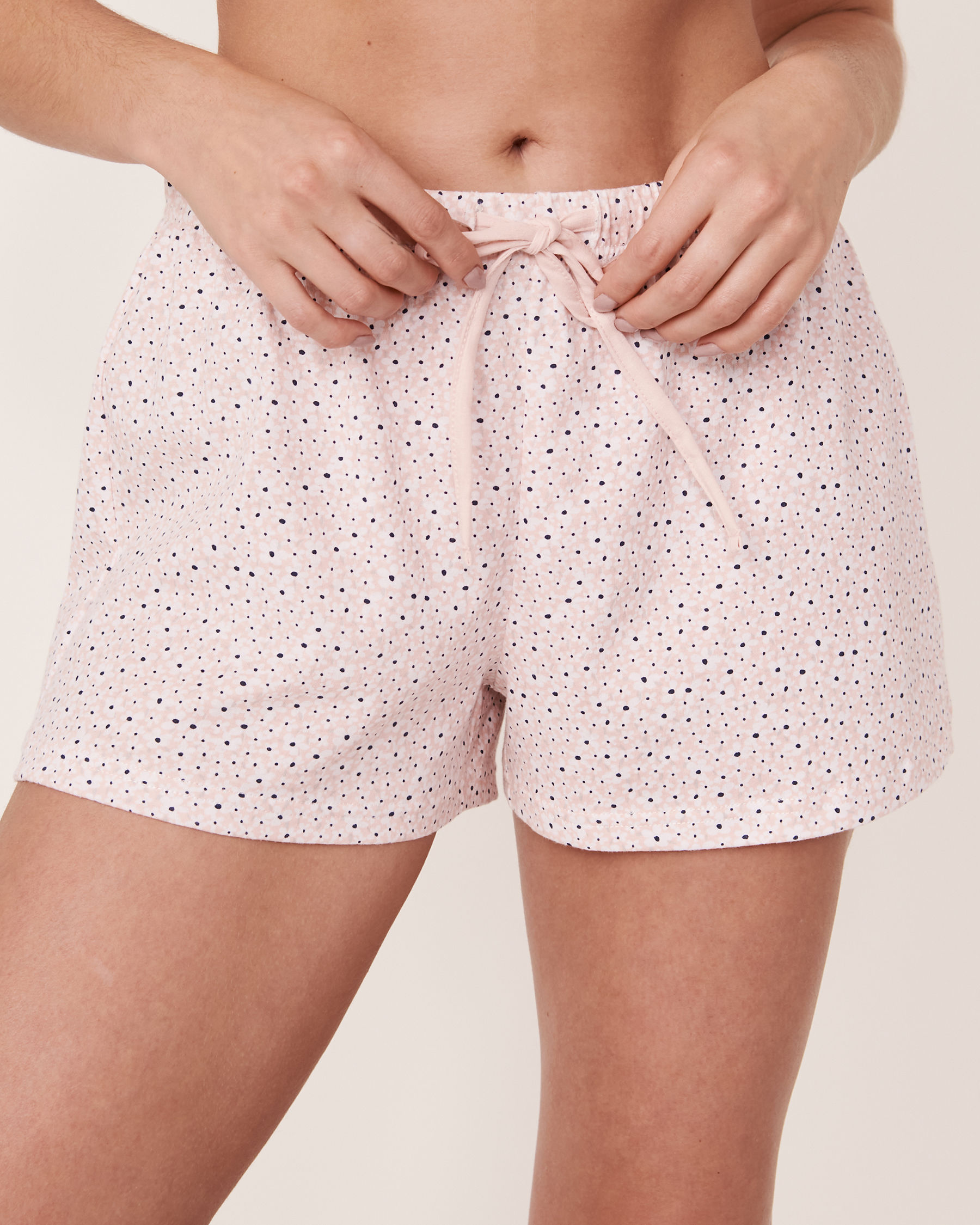 LA VIE EN ROSE Short de pyjama avec cordon de serrage Fleurs 40200107 - Voir1