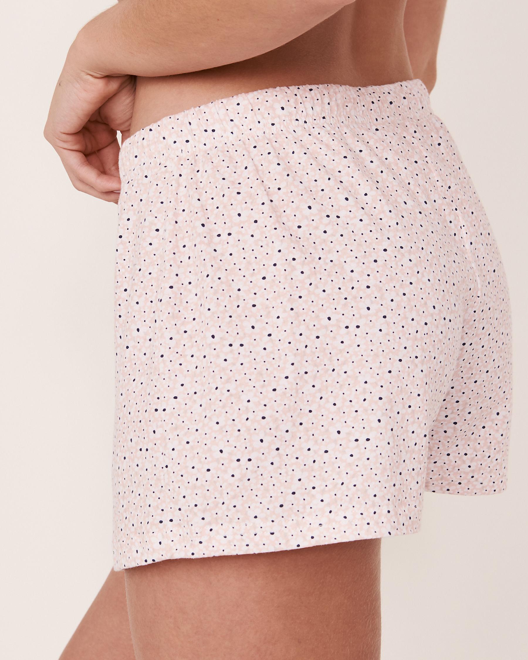 LA VIE EN ROSE Short de pyjama avec cordon de serrage Fleurs 40200107 - Voir2