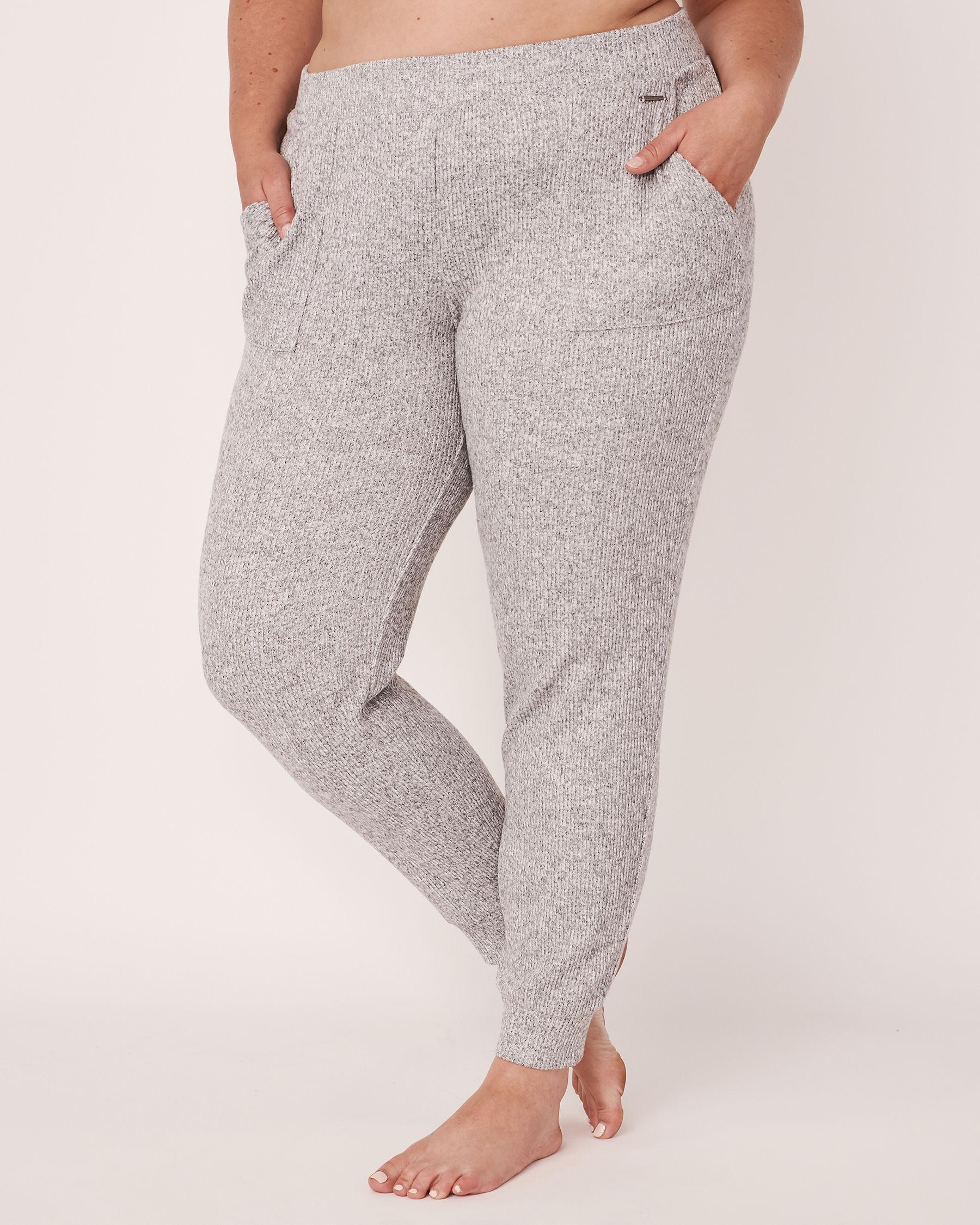 LA VIE EN ROSE Pantalon côtelé Gris 50200011 - Voir1