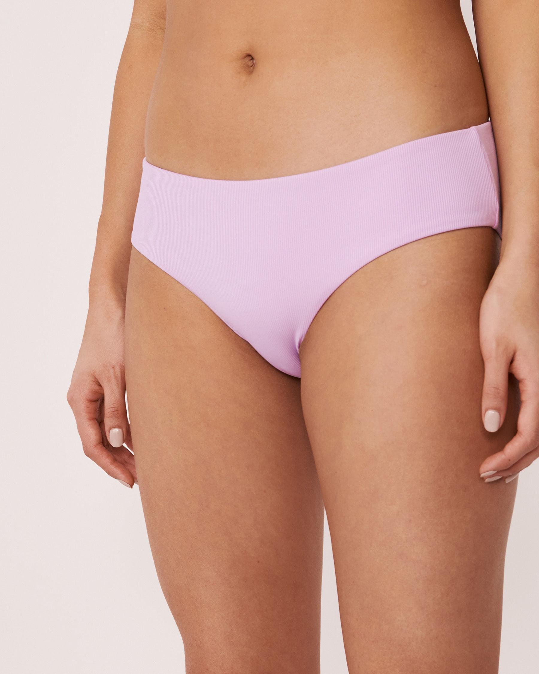 AQUAROSE SOLID RIB Recycled Fibers Hipster Bikini Bottom Lilac 70300051 - View1