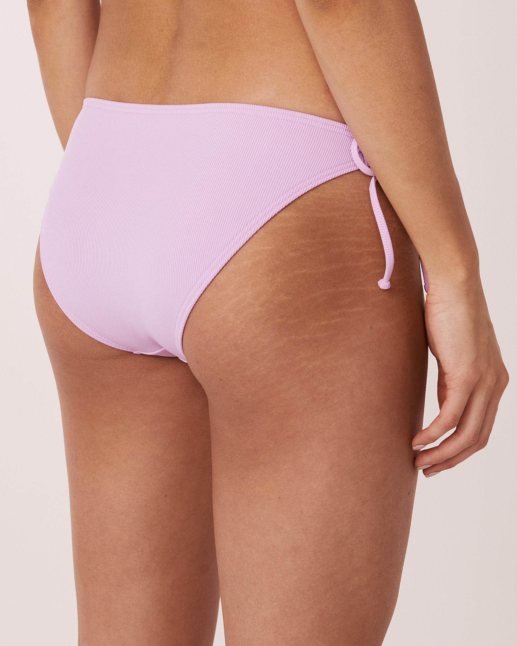 AQUAROSE Bas de bikini brésilien en fibres recyclées SOLID RIB Lilas 70300052 - Voir2