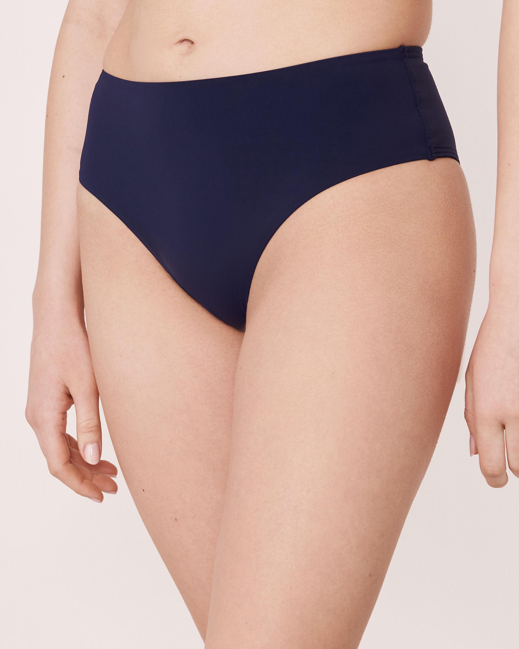 LA VIE EN ROSE AQUA Bas de bikini taille mi-haute PEACOAT Bleu marin 70300039 - Voir1