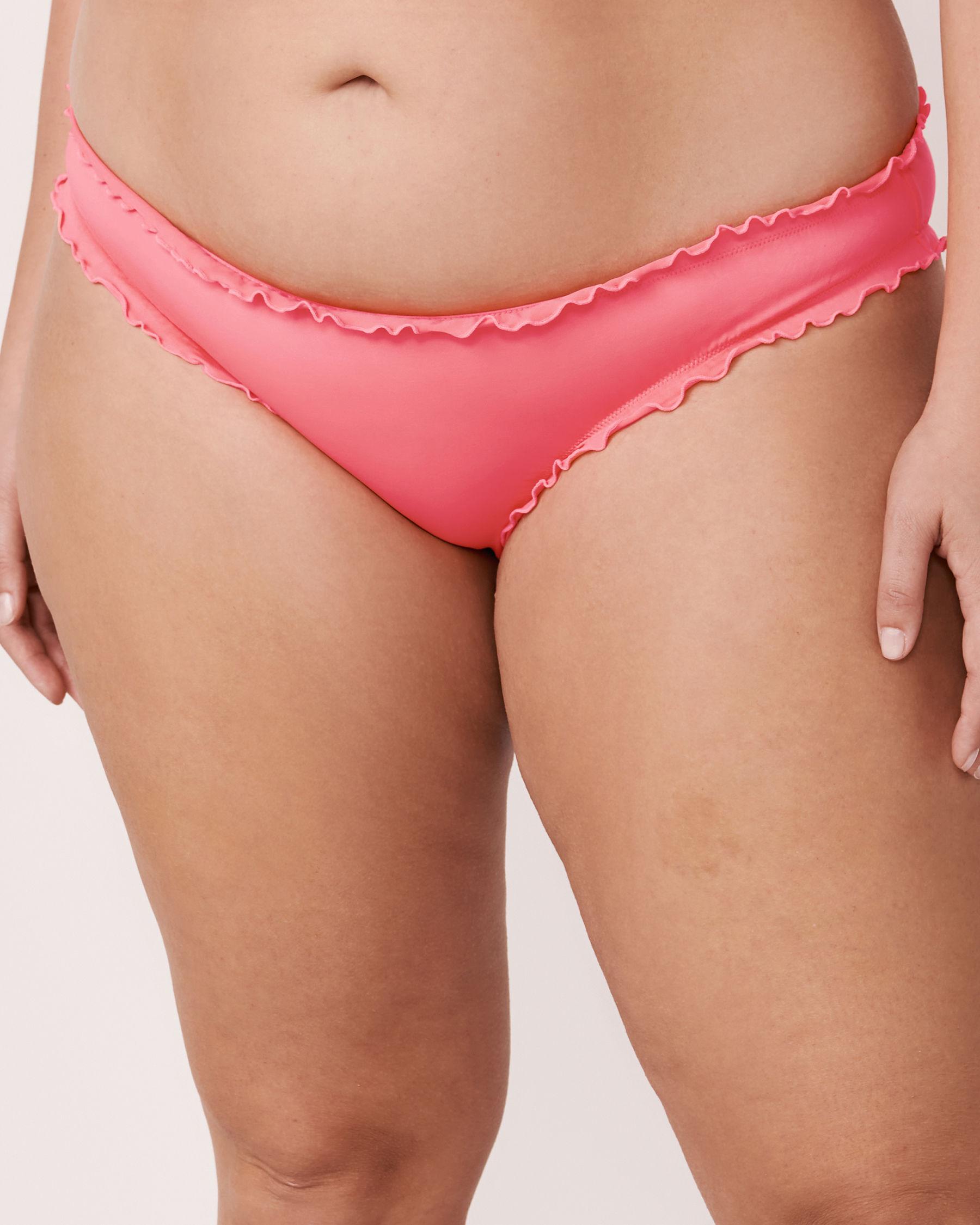 LA VIE EN ROSE AQUA MELON Ruffle Bikini Bottom Pink 70300035 - View1