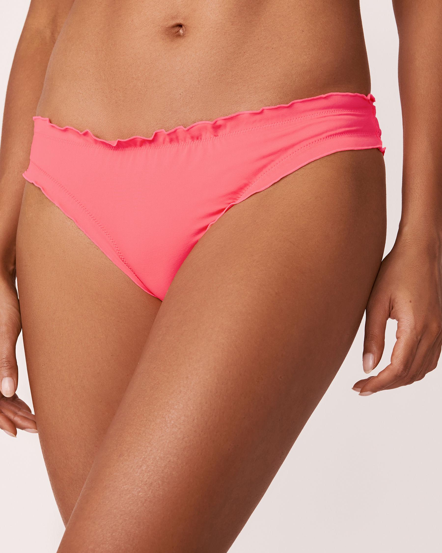 LA VIE EN ROSE AQUA MELON Ruffle Bikini Bottom Pink 70300035 - View3