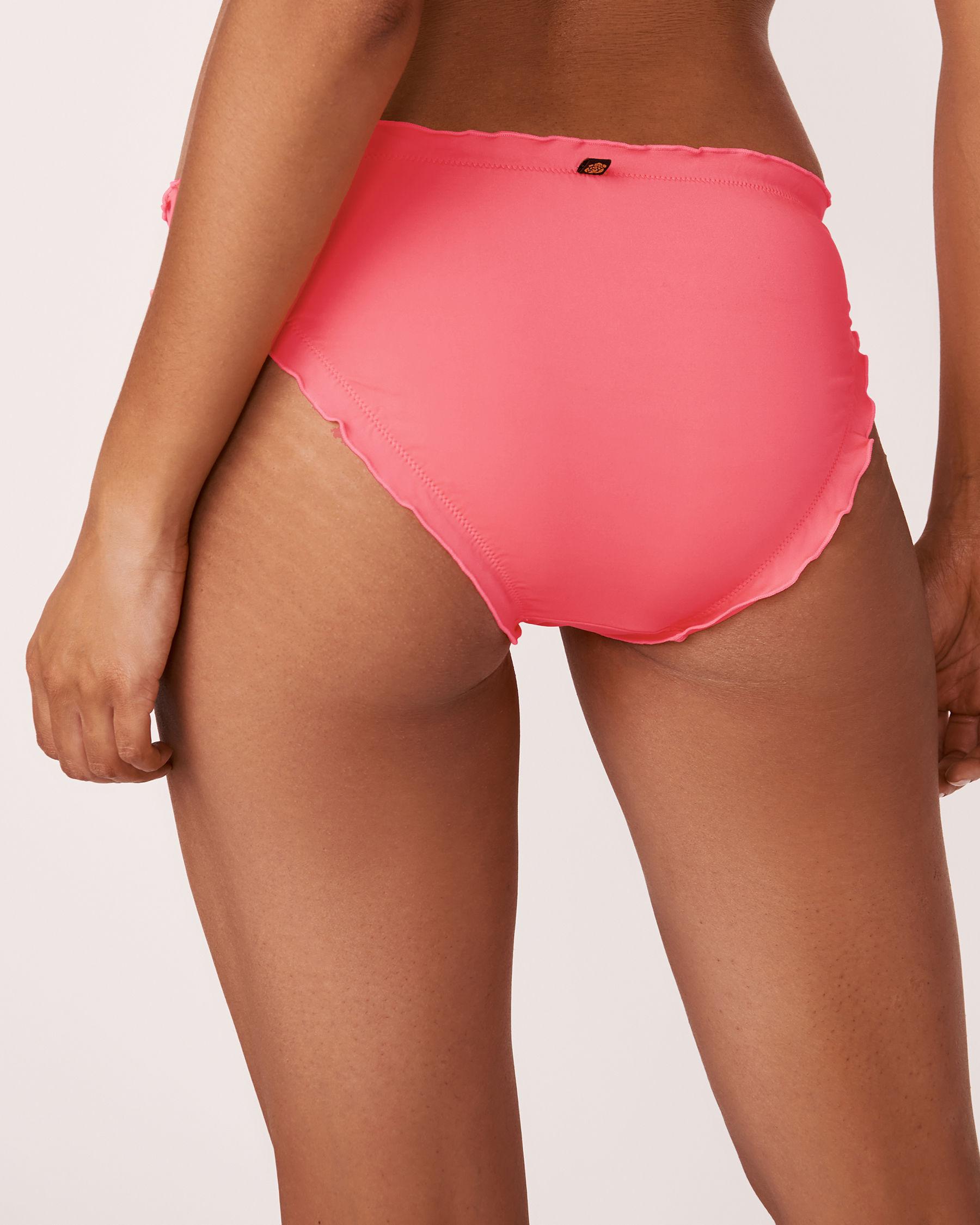 LA VIE EN ROSE AQUA MELON Ruffle Bikini Bottom Pink 70300035 - View4