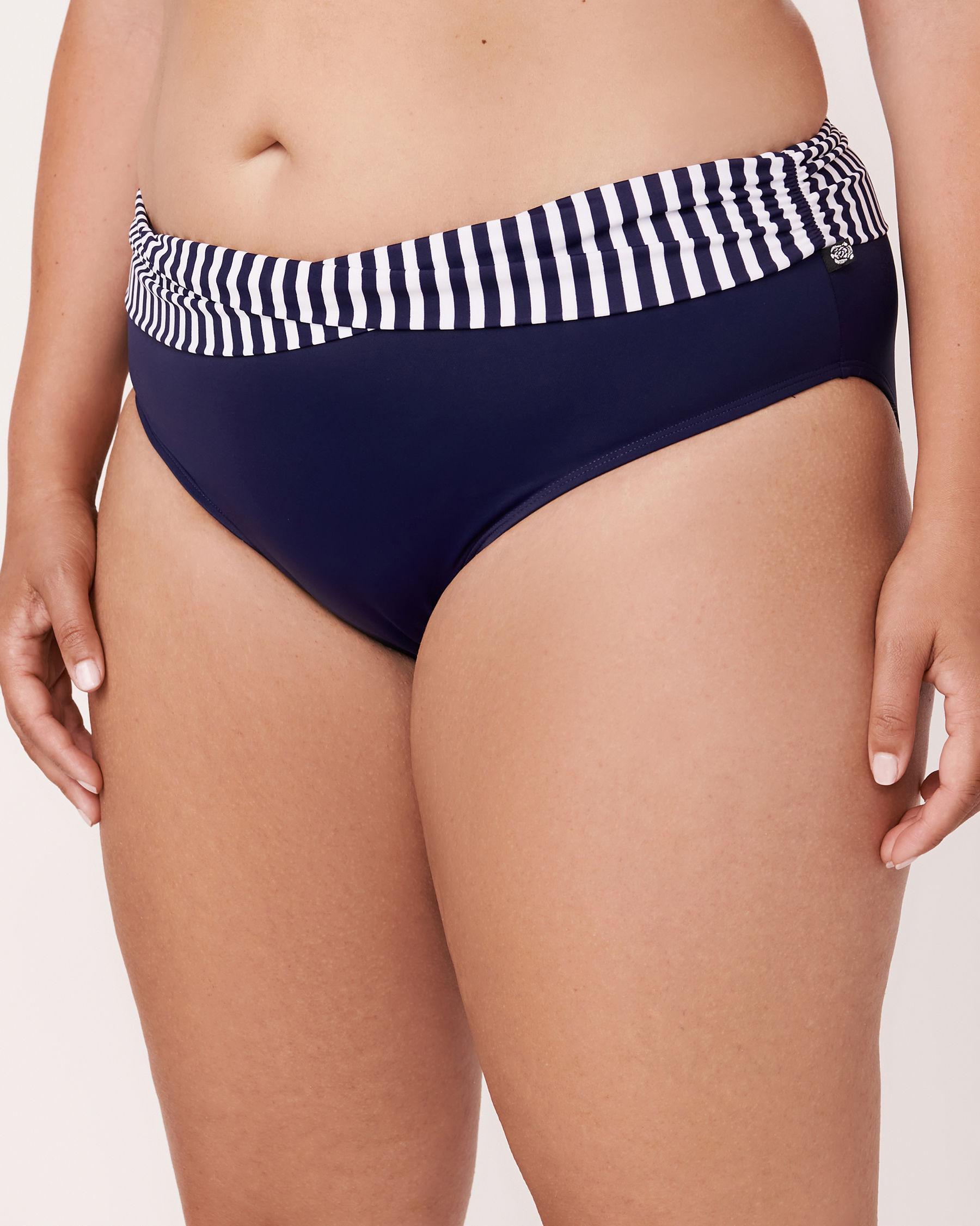 LA VIE EN ROSE AQUA COSMO Twisted Waistband Bikini Bottom Blue 671-691-0-0P - View1