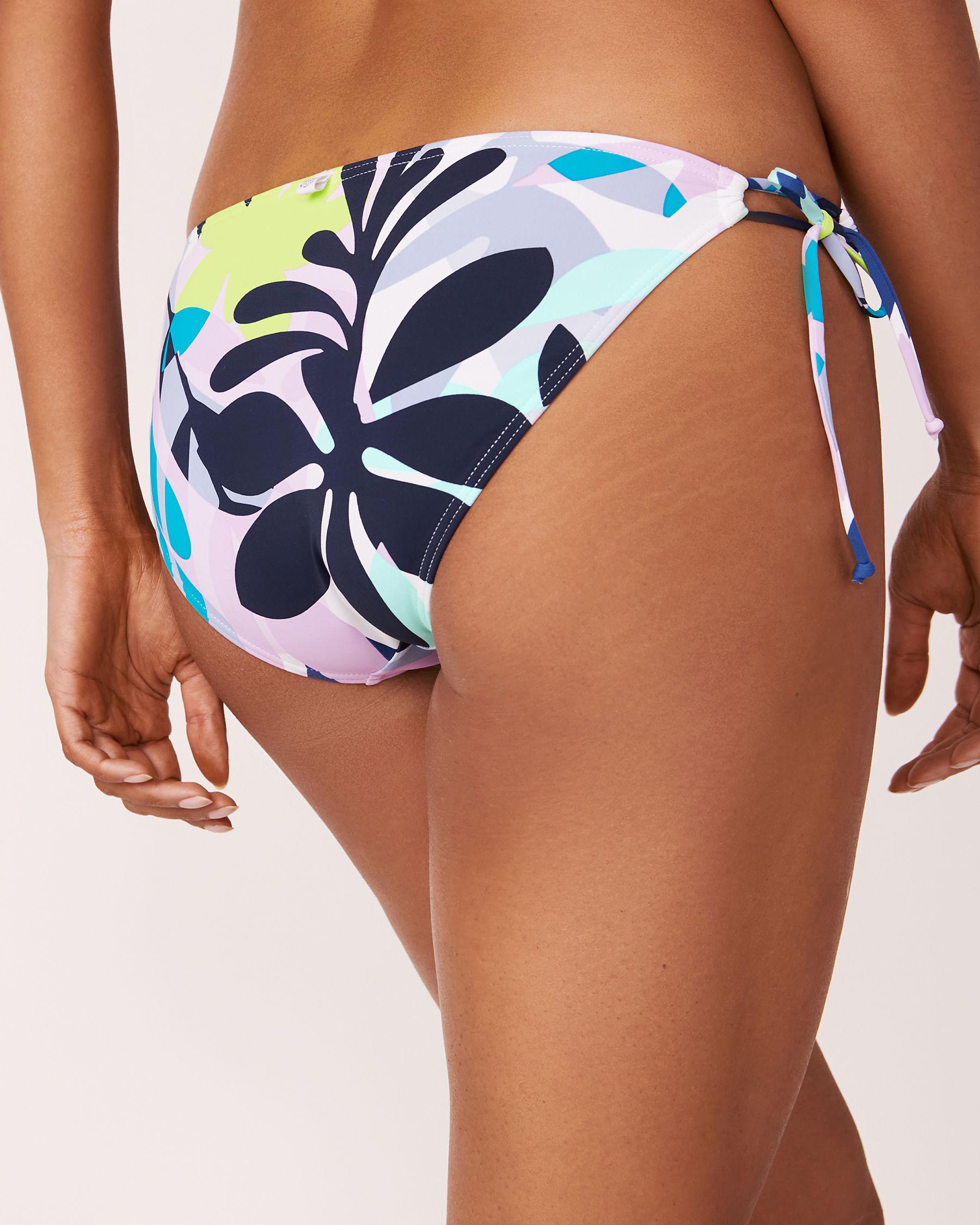 LA VIE EN ROSE AQUA Bas de bikini noué aux hanches SPRING LEAVES Imprimé feuilles 70300006 - Voir2