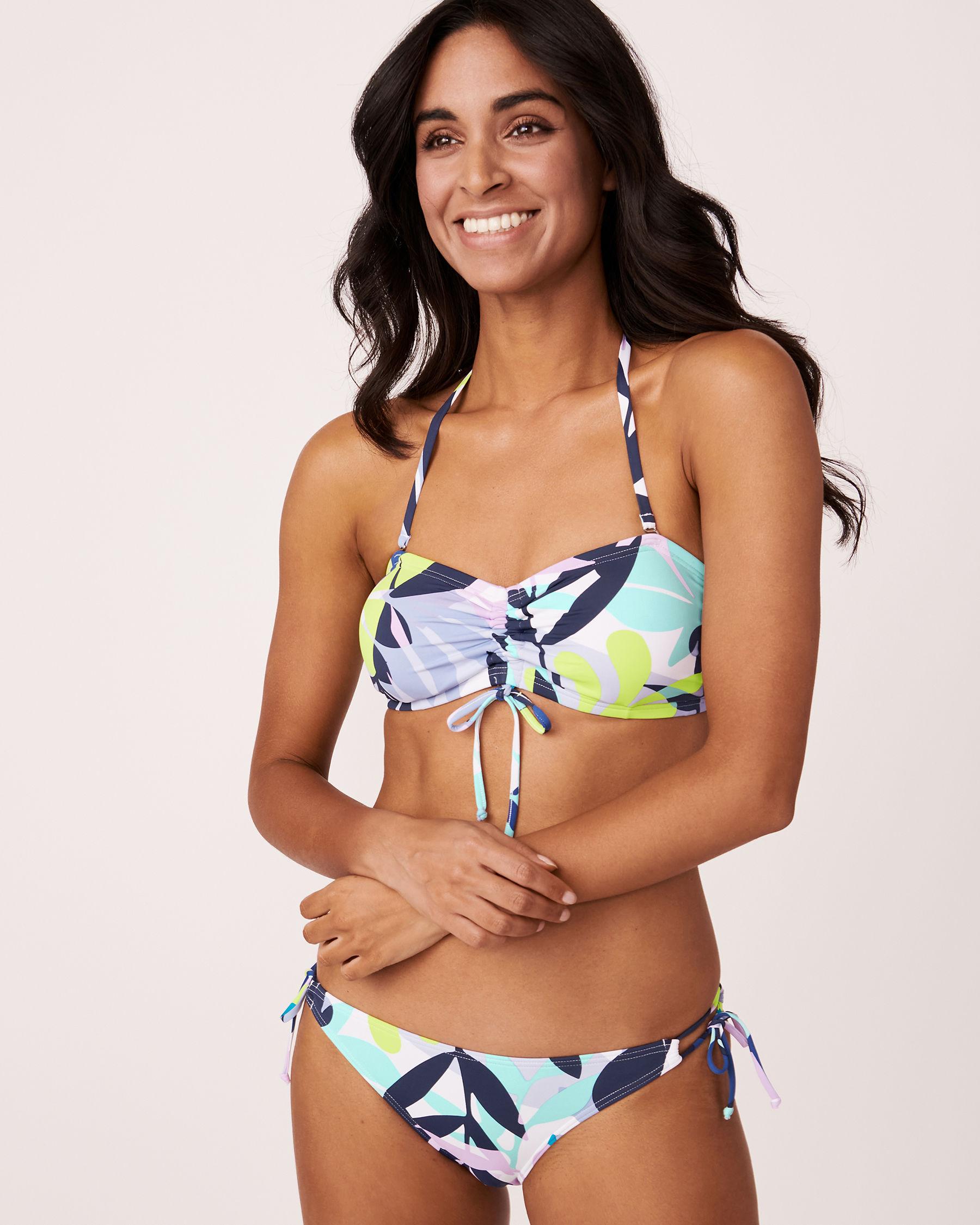 LA VIE EN ROSE AQUA Bas de bikini noué aux hanches SPRING LEAVES Imprimé feuilles 70300006 - Voir3