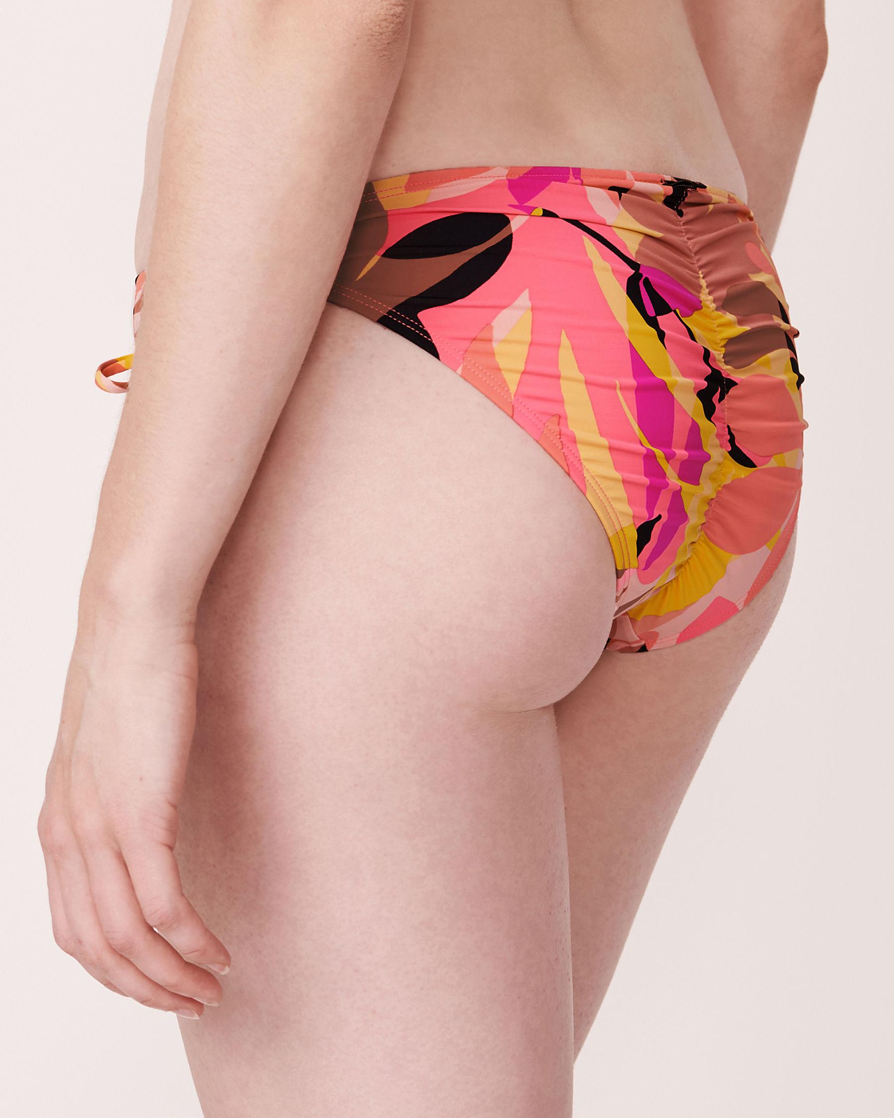 LA VIE EN ROSE AQUA FIRE LEAVES Brazilian Bikini Bottom Summer print 70300003 - View2