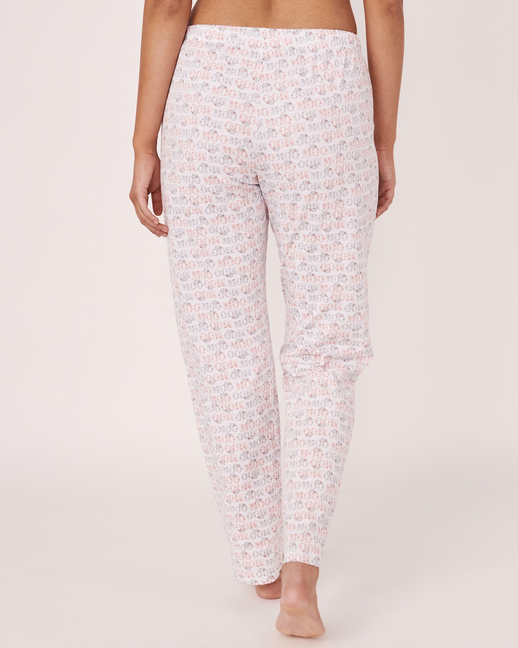 LA VIE EN ROSE Straight Leg Pyjama Pant MOO text 40200122 - View2