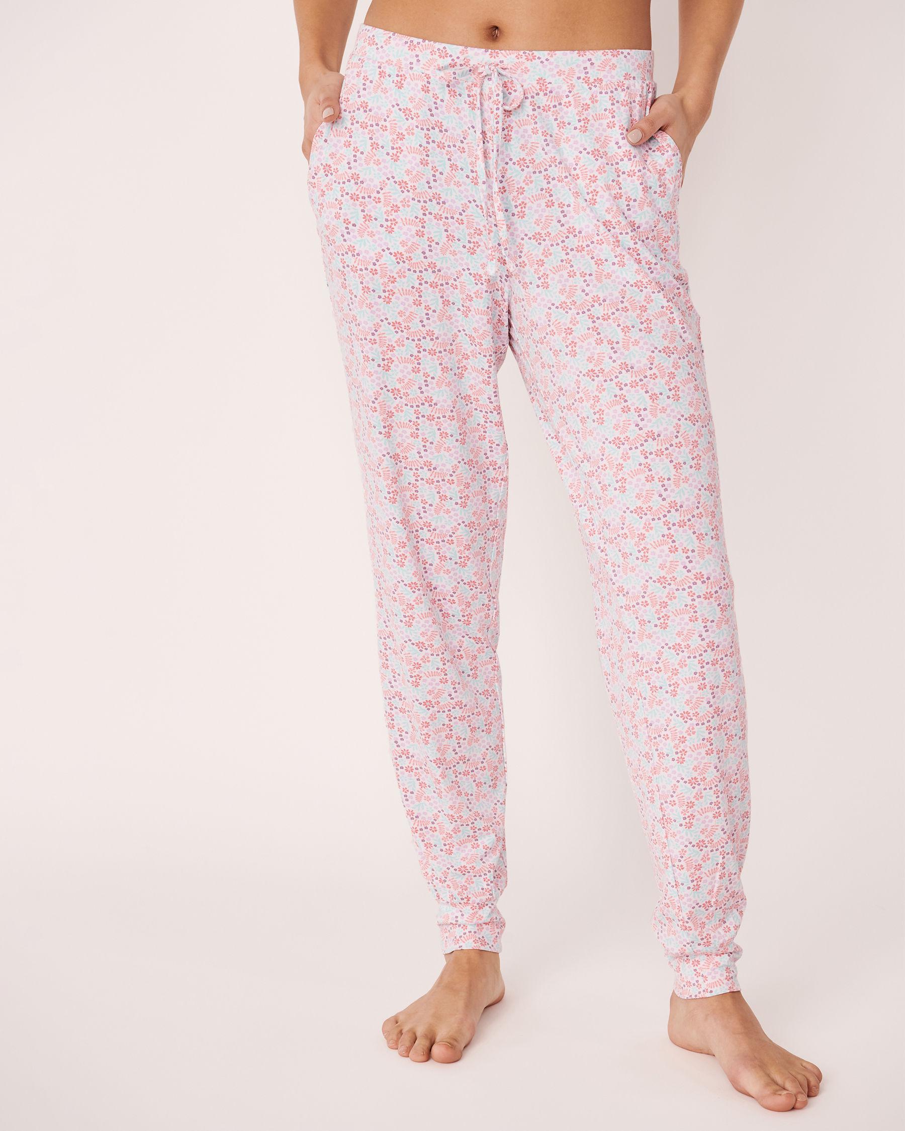 LA VIE EN ROSE Fitted Pyjama Pant Ditsy floral 40200056 - View1