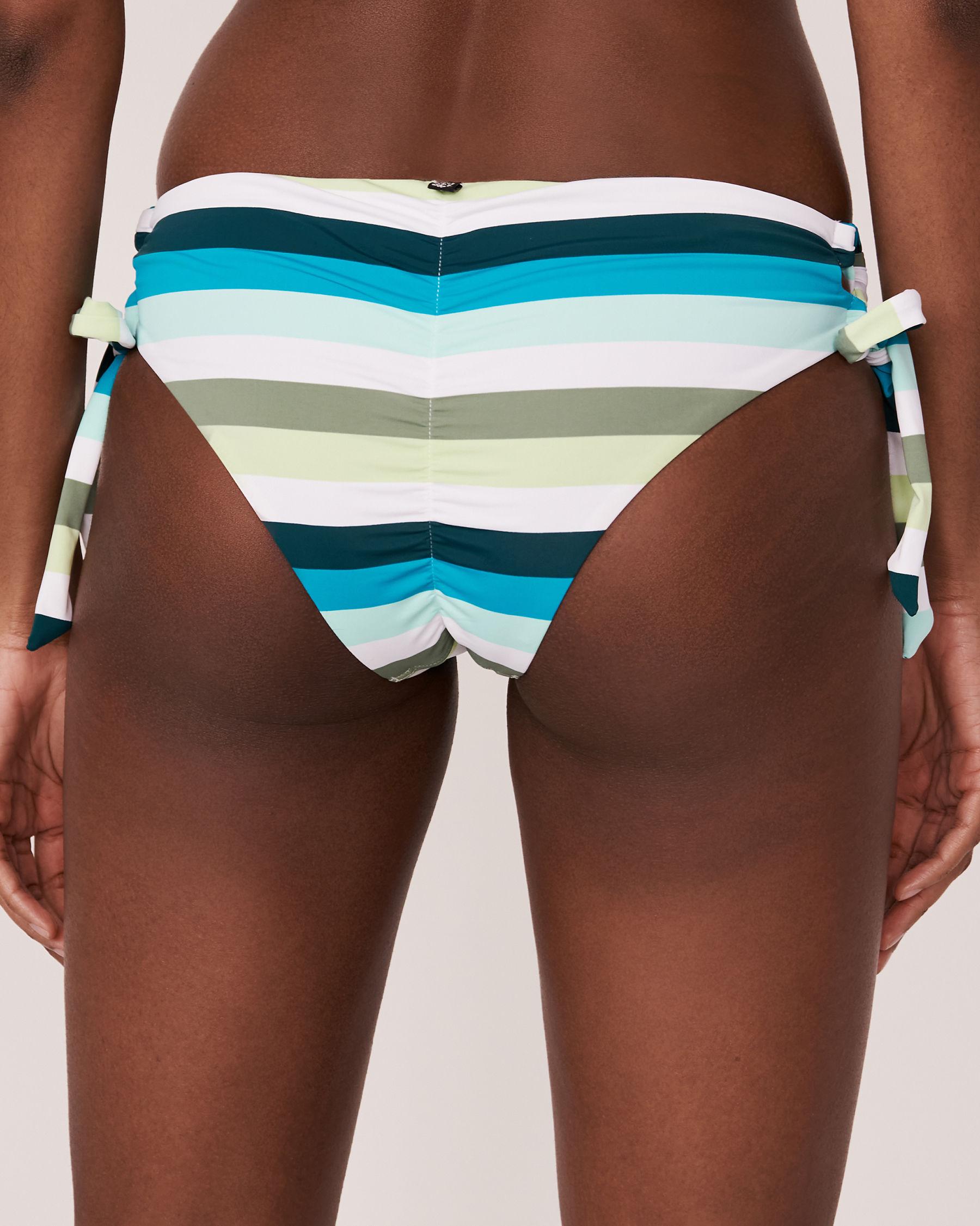 LA VIE EN ROSE AQUA Bas de bikini noué aux hanches LAGOON Tons de bleu 70300093 - Voir2