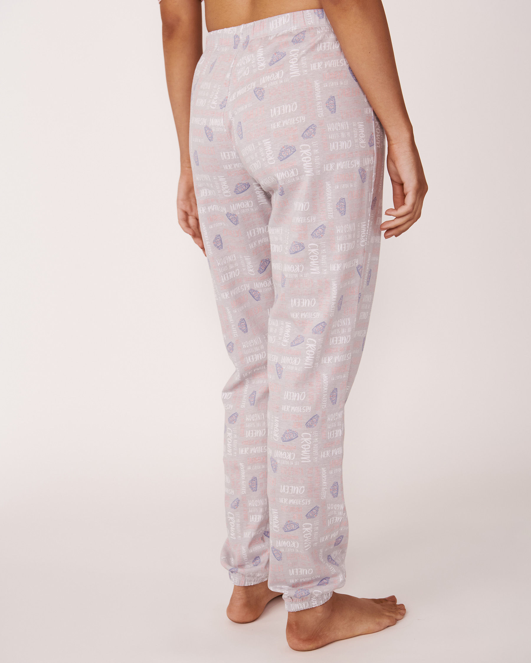 LA VIE EN ROSE Fitted Pant Text and print 40200020 - View2