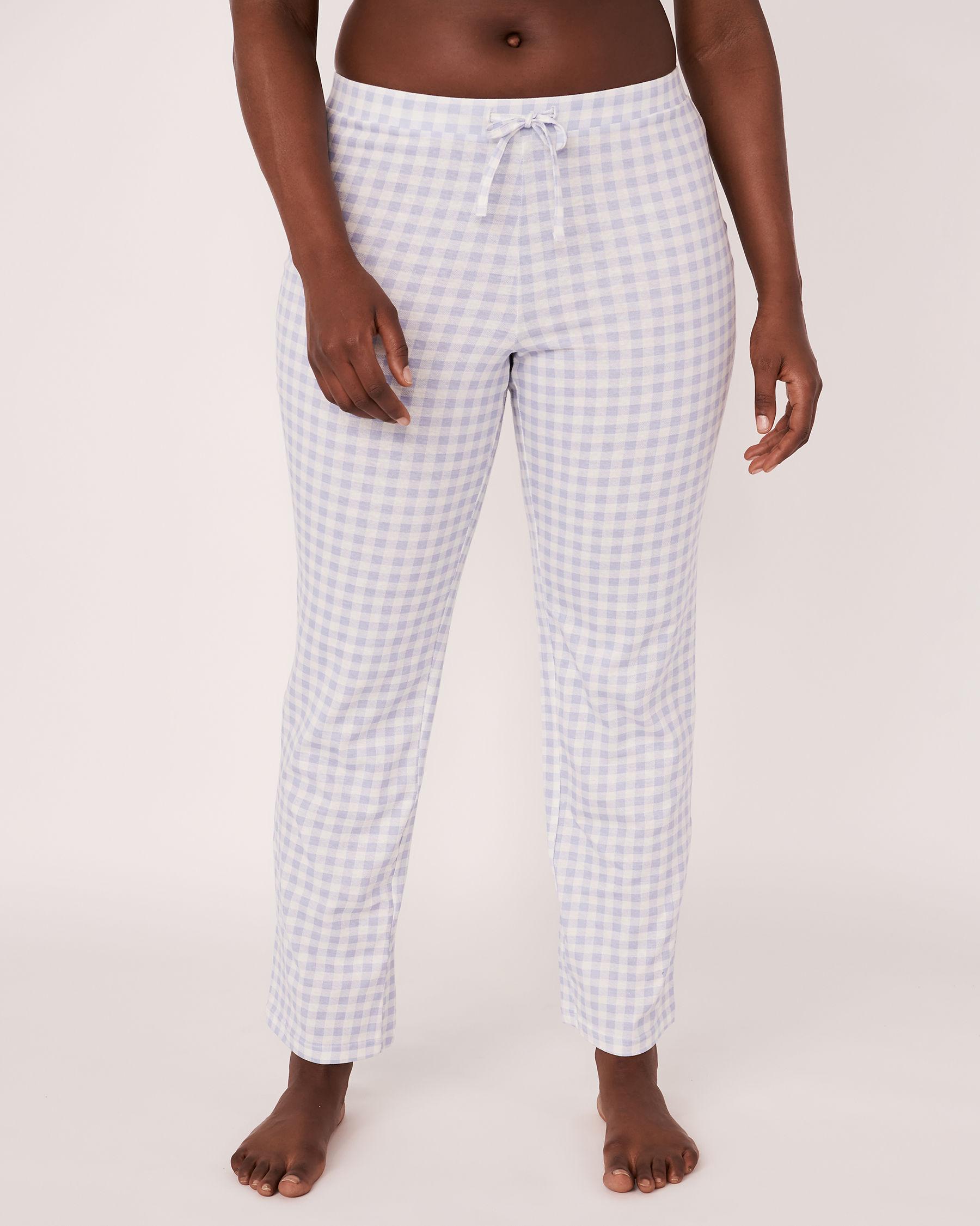 LA VIE EN ROSE Pyjama Pant with Drawstring Blue vichy 40200021 - View1