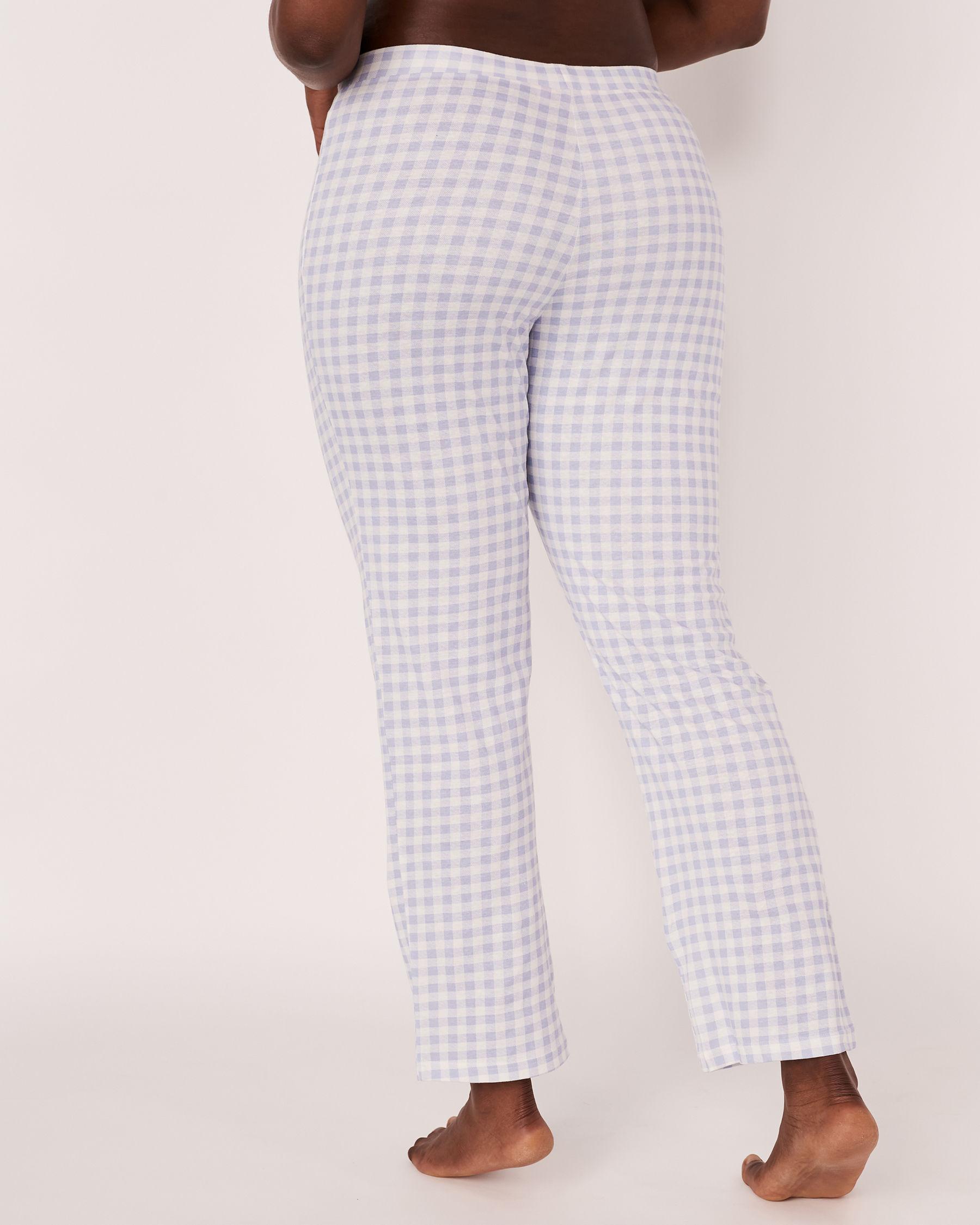 LA VIE EN ROSE Pyjama Pant with Drawstring Blue vichy 40200021 - View2
