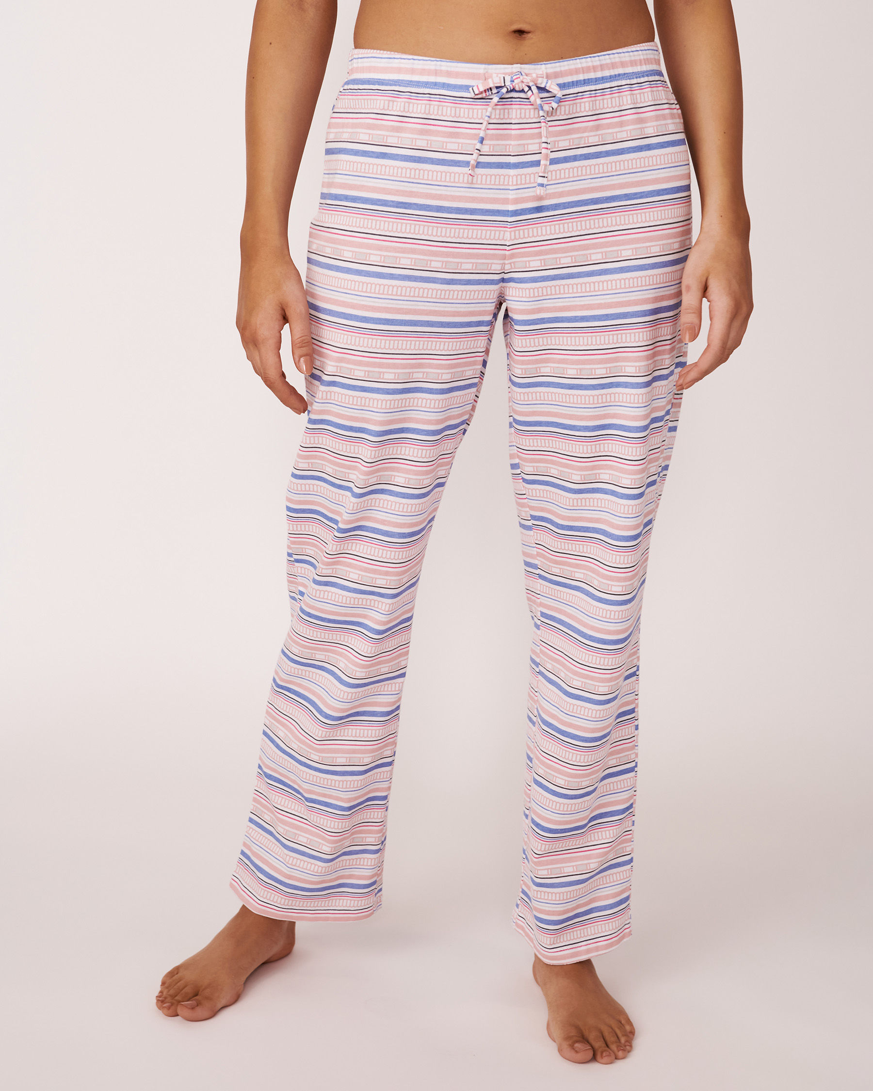 LA VIE EN ROSE Pantalon jambe droite Imprimé multicolore 40200018 - Voir1