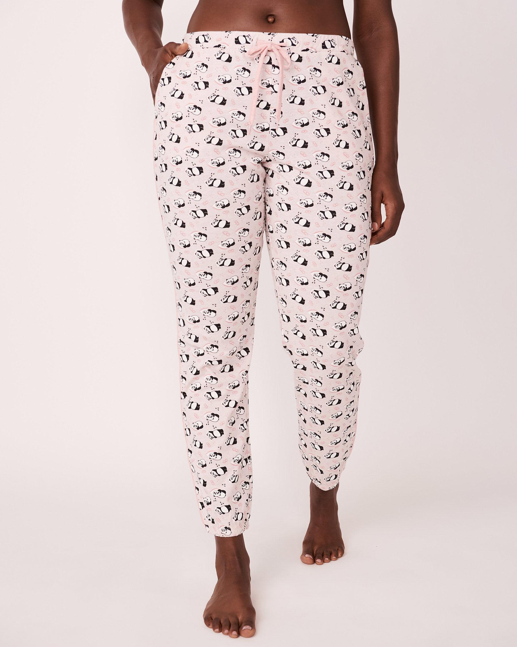 LA VIE EN ROSE Pantalon bouffant avec poches Imprimé panda 773-319-0-11 - Voir1