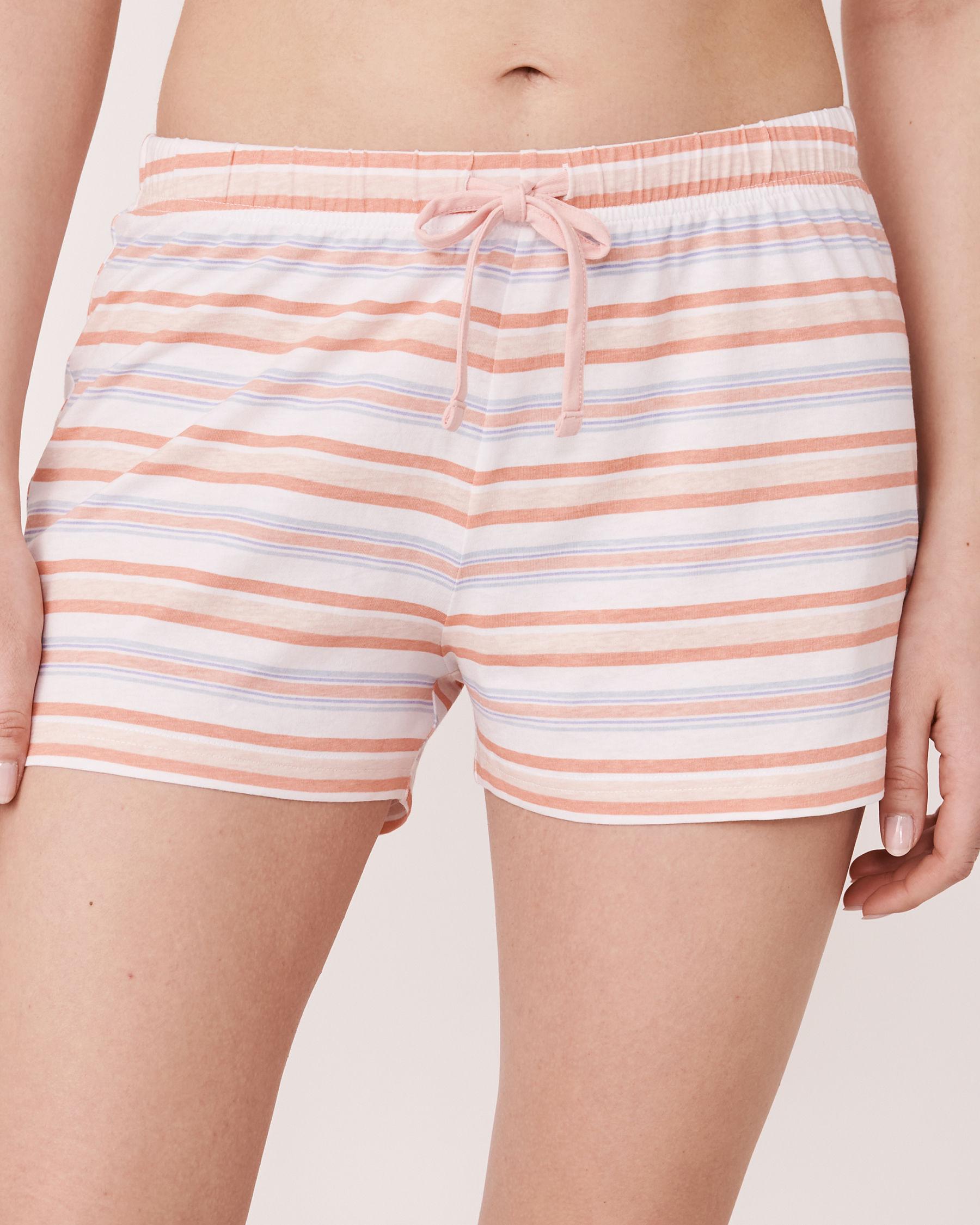 LA VIE EN ROSE Short de pyjama bande de taille élastique Rayures multicolores 40200039 - Voir1