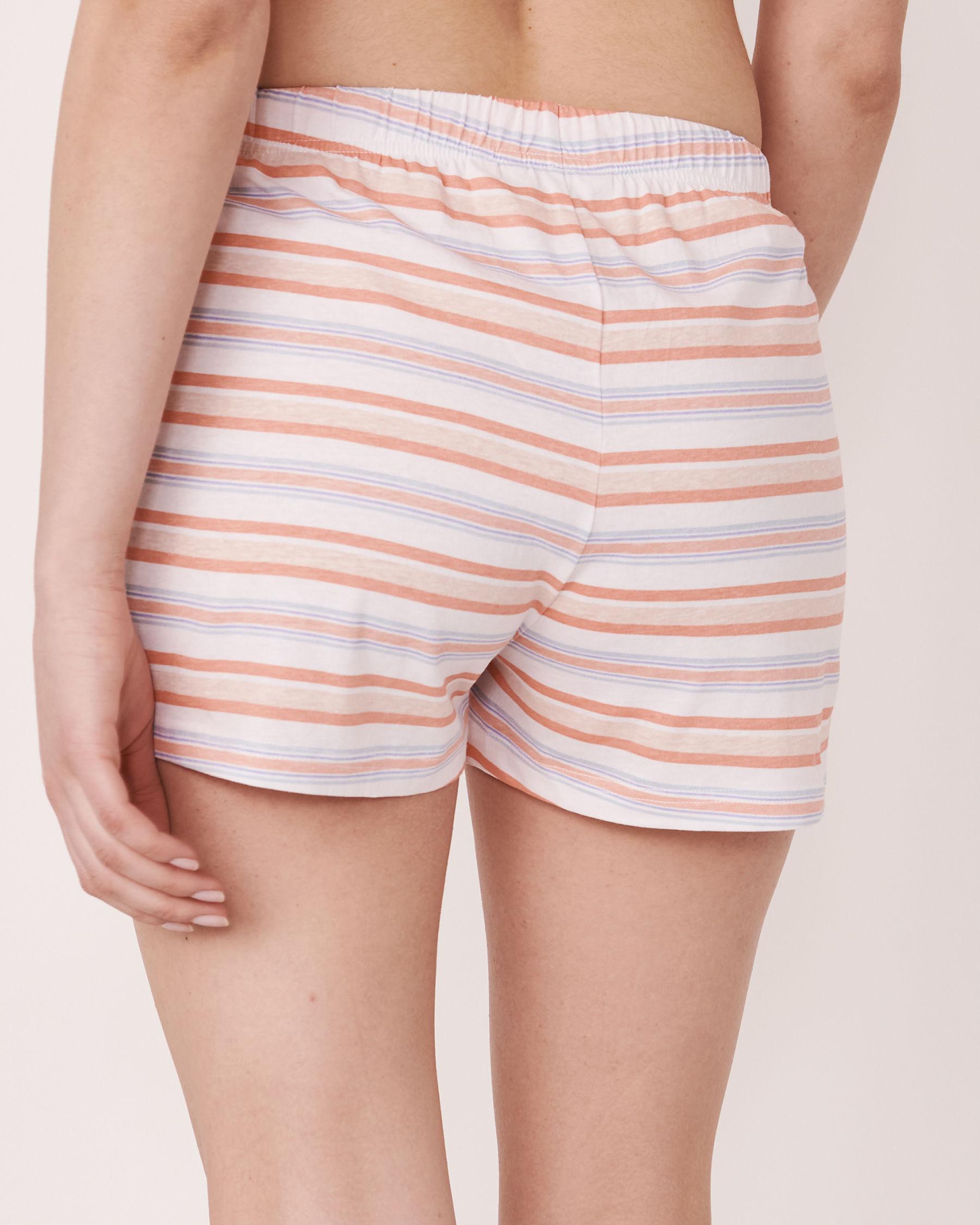 LA VIE EN ROSE Short de pyjama bande de taille élastique Rayures multicolores 40200039 - Voir2