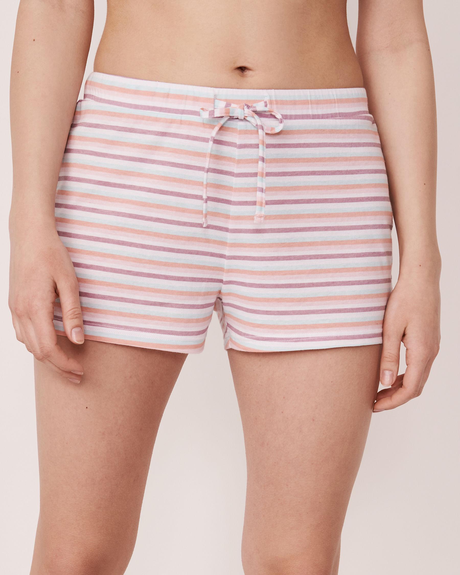 LA VIE EN ROSE Pyjama Short with Elastic Waistband Stripes 40200047 - View1