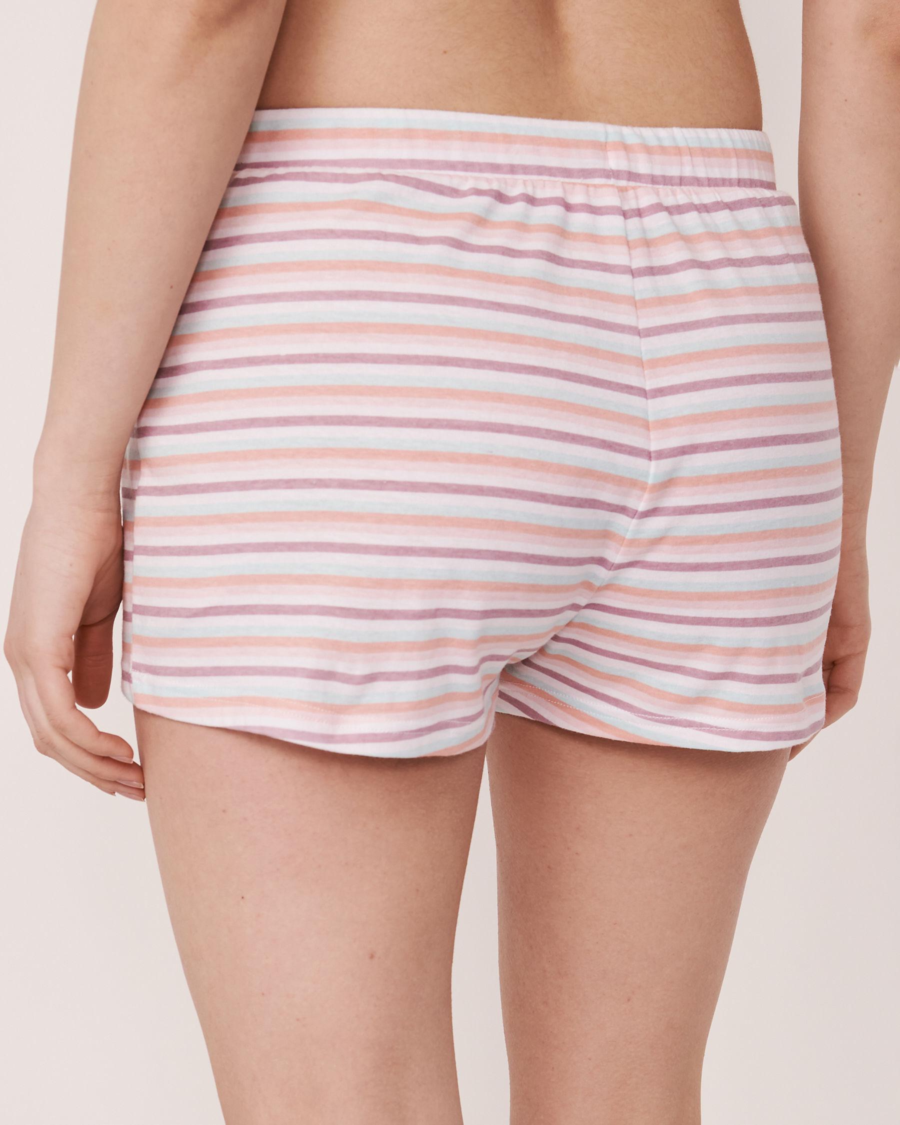 LA VIE EN ROSE Pyjama Short with Elastic Waistband Stripes 40200047 - View2