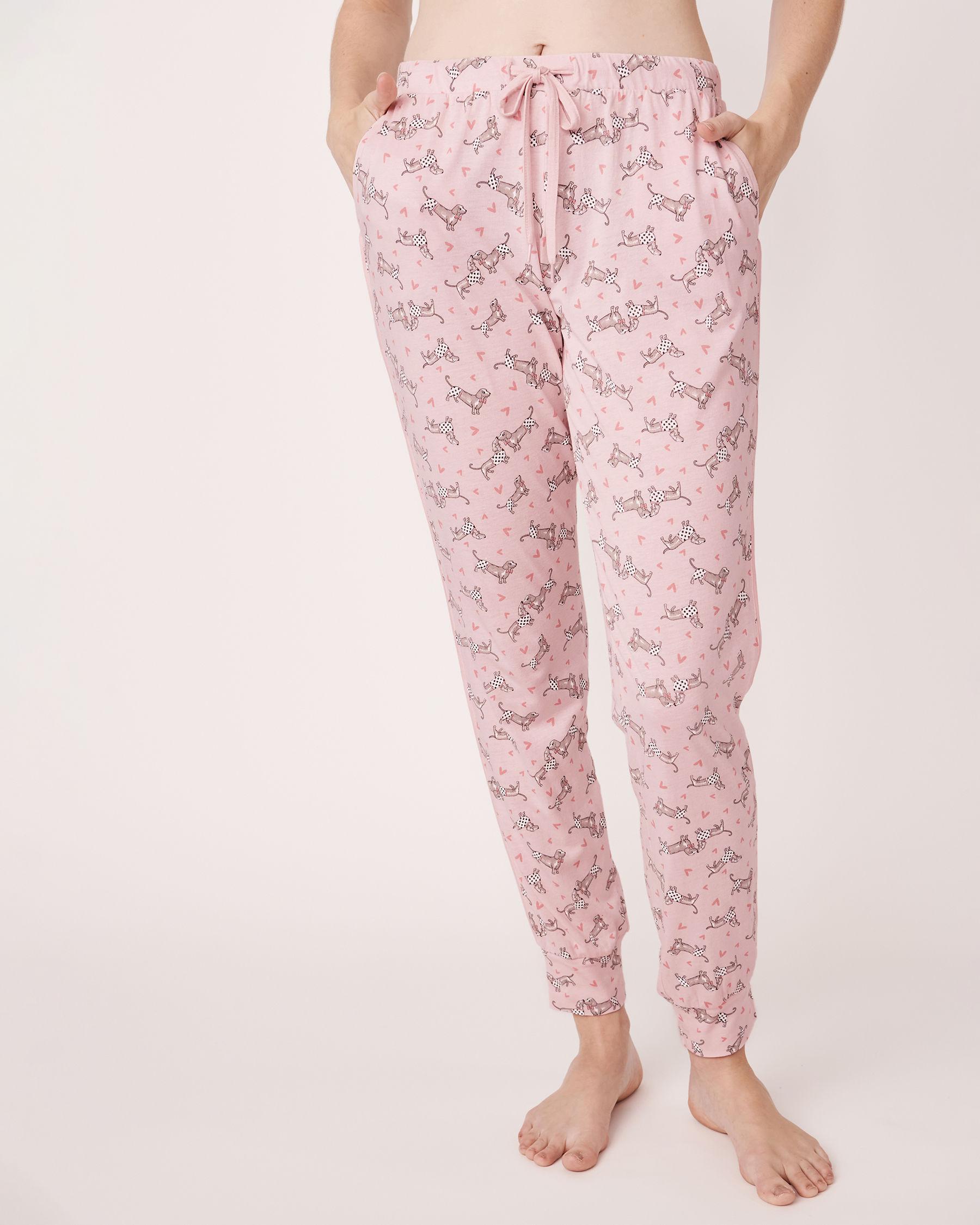 LA VIE EN ROSE Pantalon ajusté avec poches Imprimé chien 770-319-1-11 - Voir1
