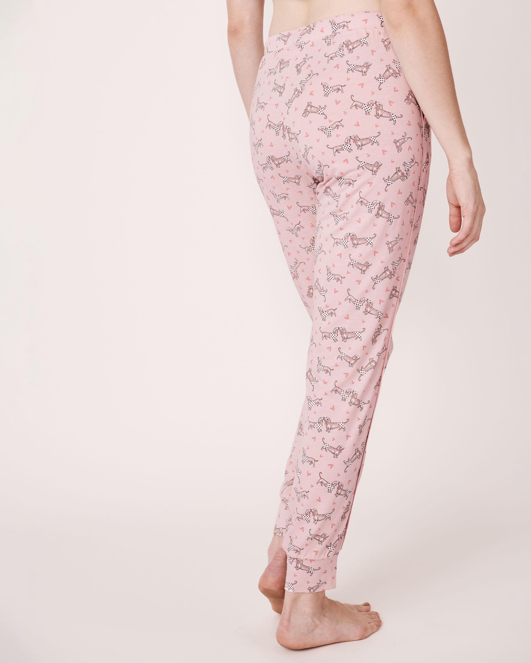 LA VIE EN ROSE Pantalon ajusté avec poches Imprimé chien 770-319-1-11 - Voir2