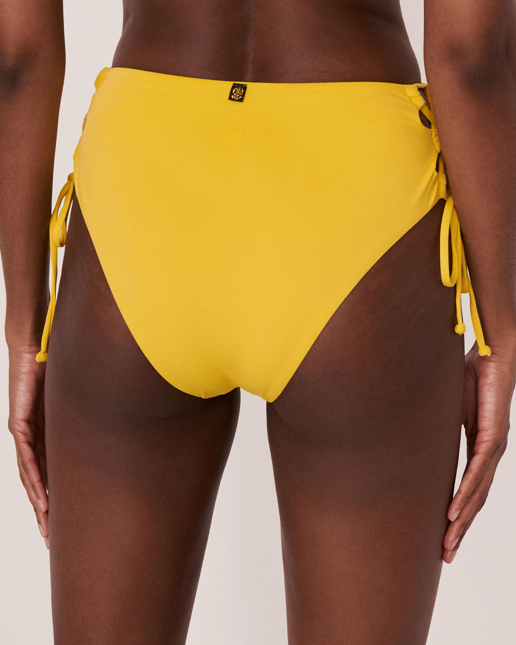 LA VIE EN ROSE AQUA Bas de bikini taille haute TOOTSIE Jaune 70300061 - Voir2
