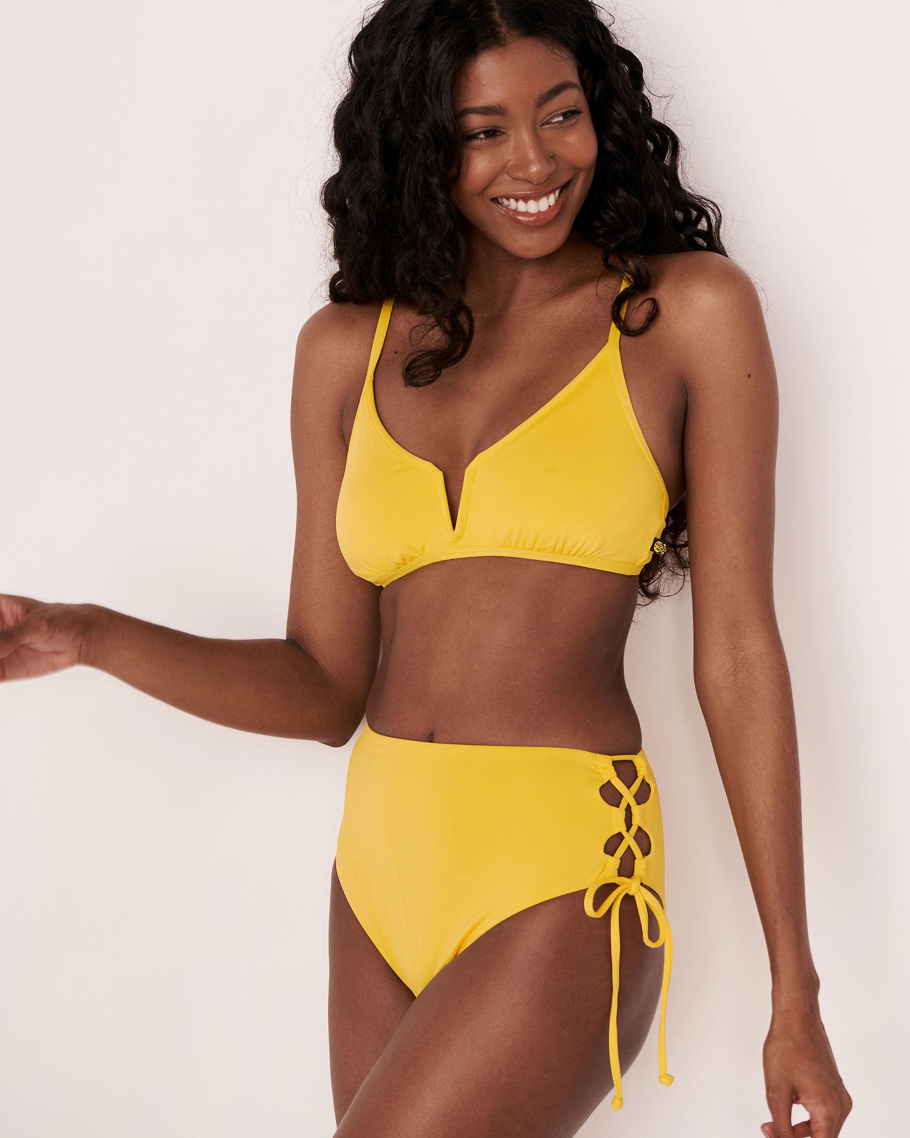 LA VIE EN ROSE AQUA Bas de bikini taille haute TOOTSIE Jaune 70300061 - Voir3