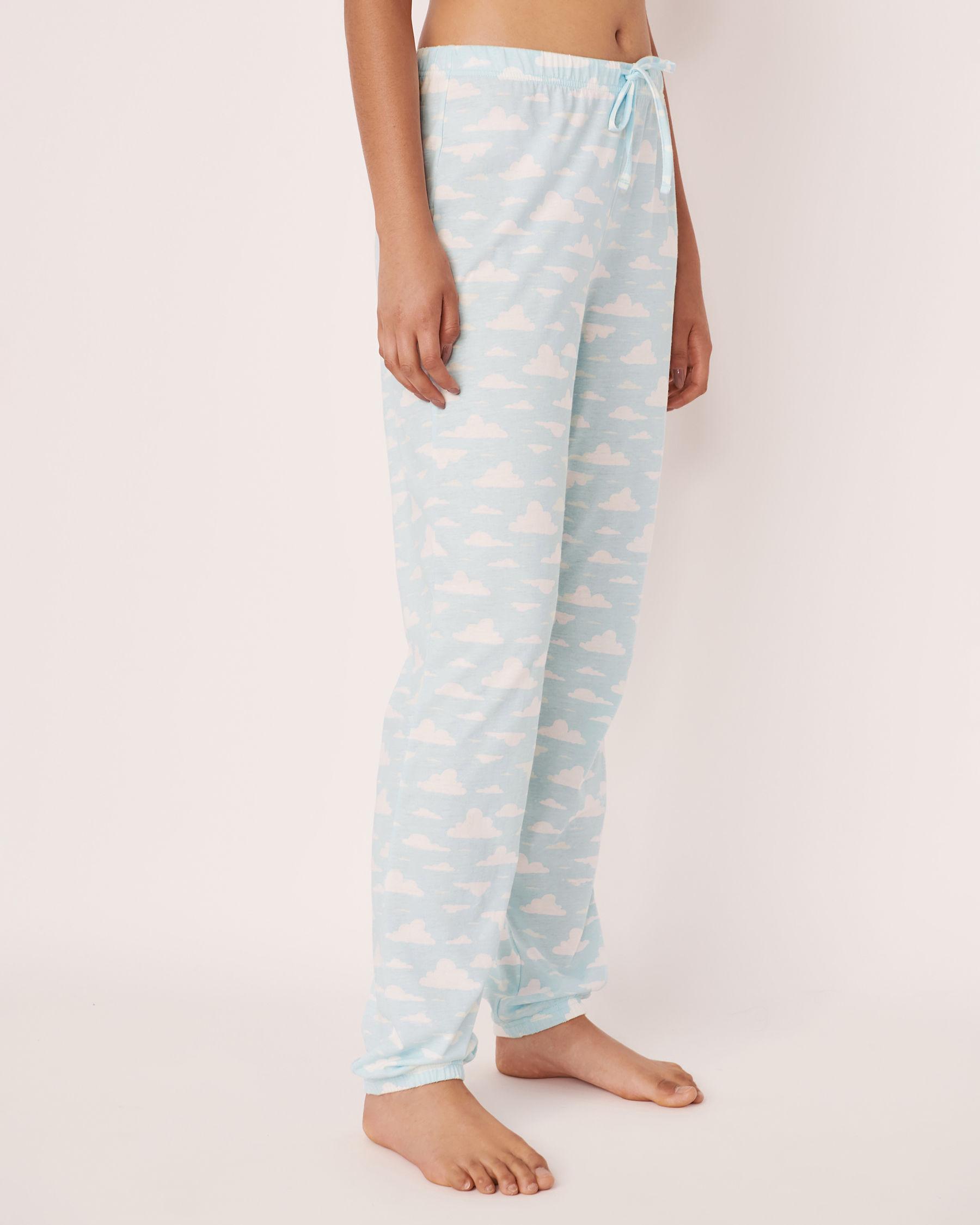 LA VIE EN ROSE Fitted Pyjama Pant Clouds 40200159 - View1
