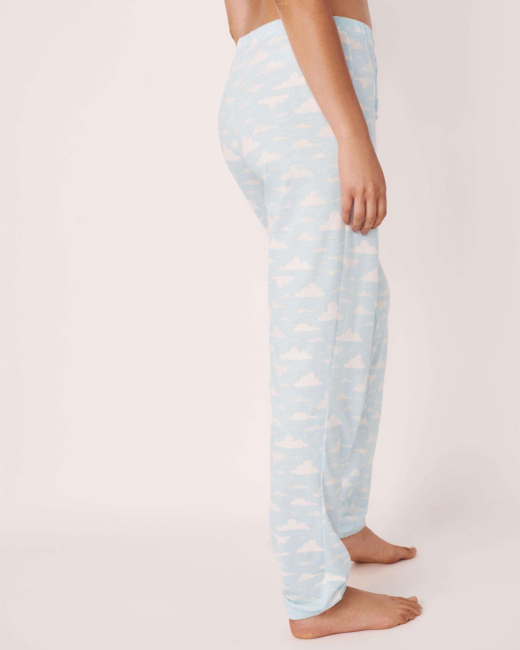 LA VIE EN ROSE Fitted Pyjama Pant Clouds 40200159 - View2