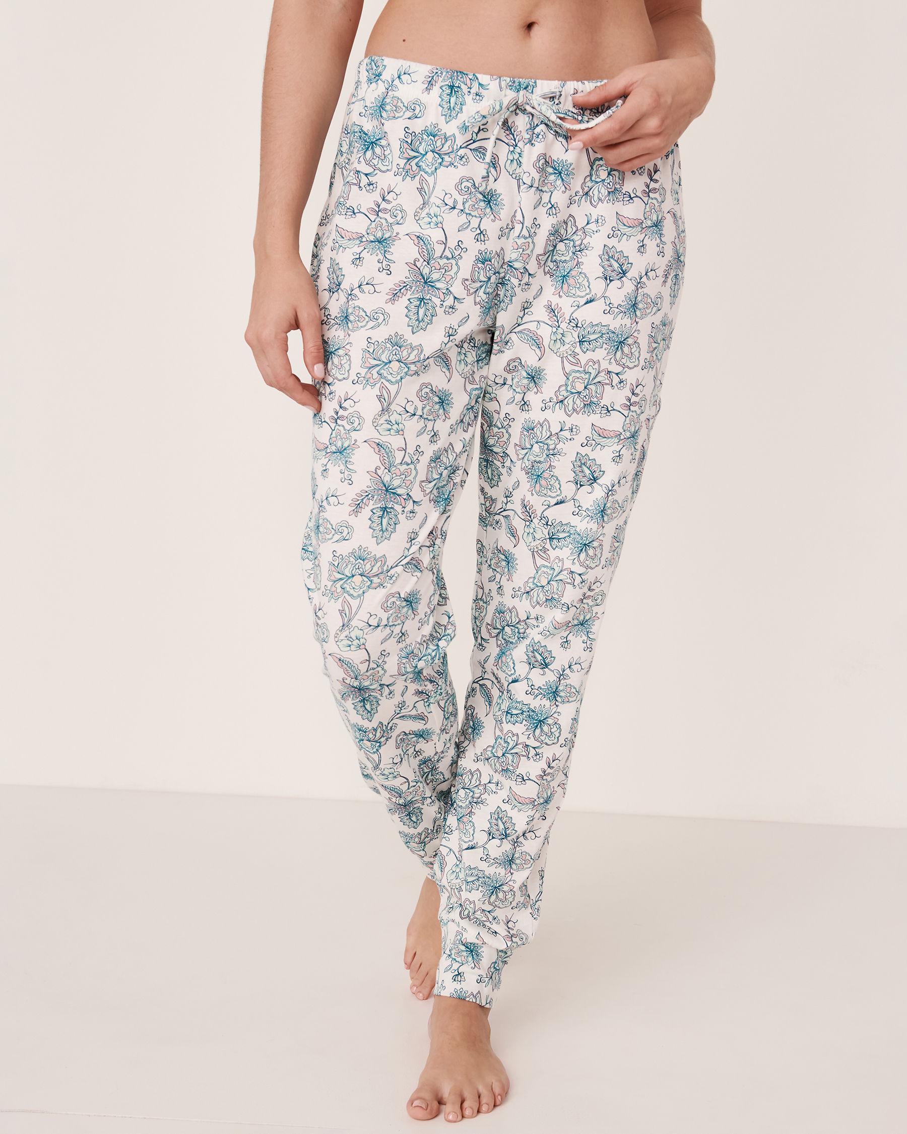 LA VIE EN ROSE Fitted Pyjama Pant Flowers 40200167 - View1