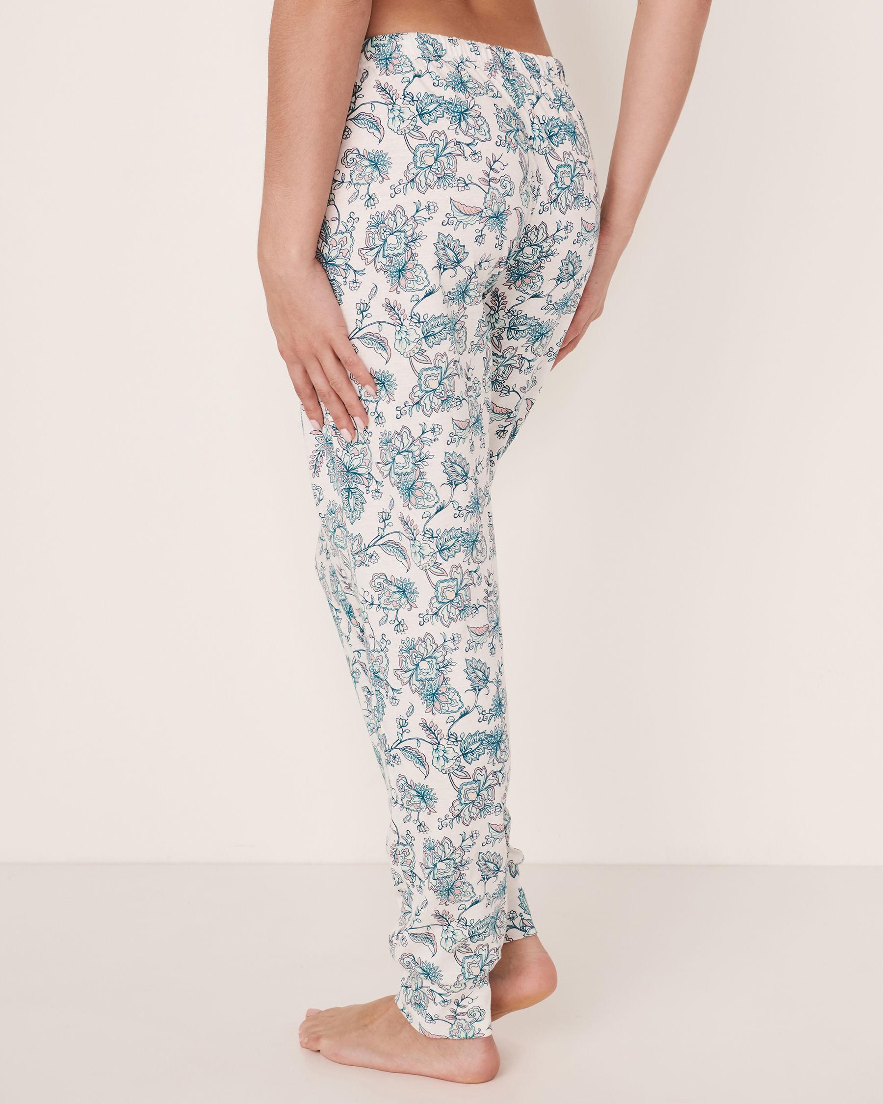 LA VIE EN ROSE Fitted Pyjama Pant Flowers 40200167 - View2