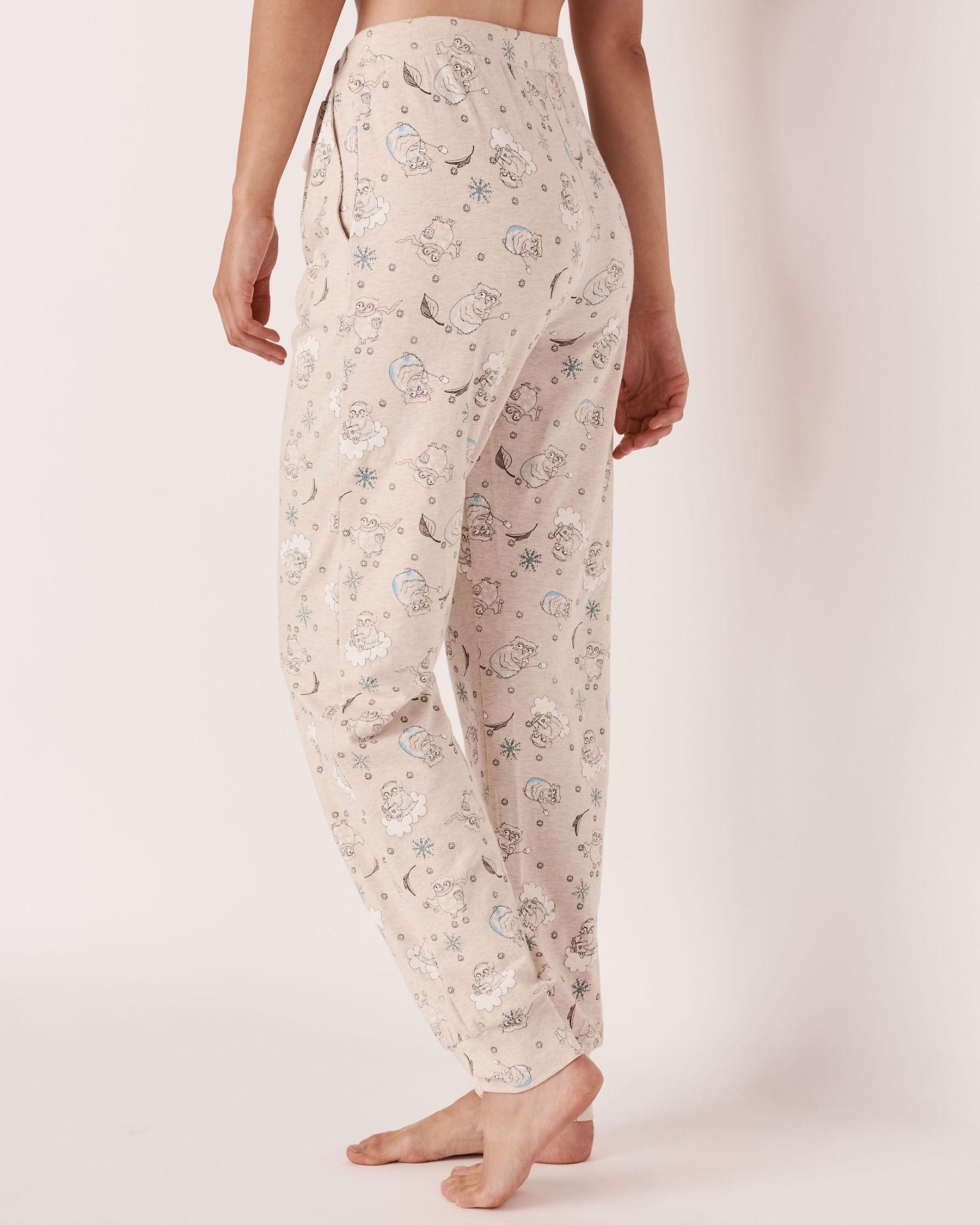 LA VIE EN ROSE Organic Cotton Fitted Pant Owl 40200144 - View2