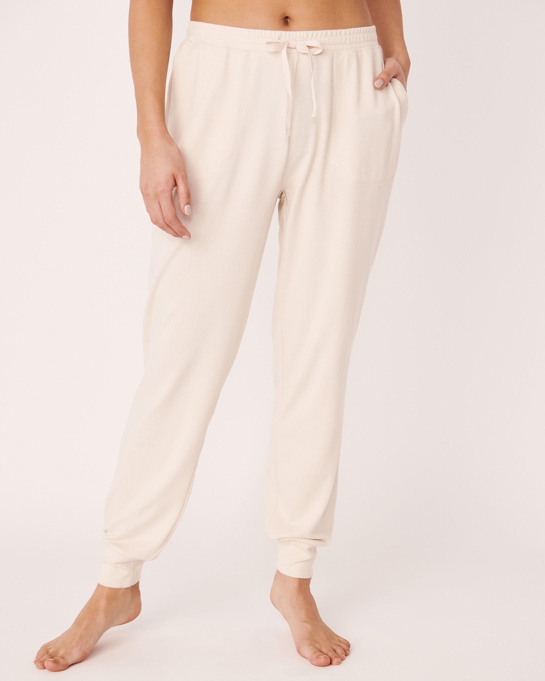 LA VIE EN ROSE Recycled Fibers Fitted Pyjama Pant Grey mix 40200129 - View1