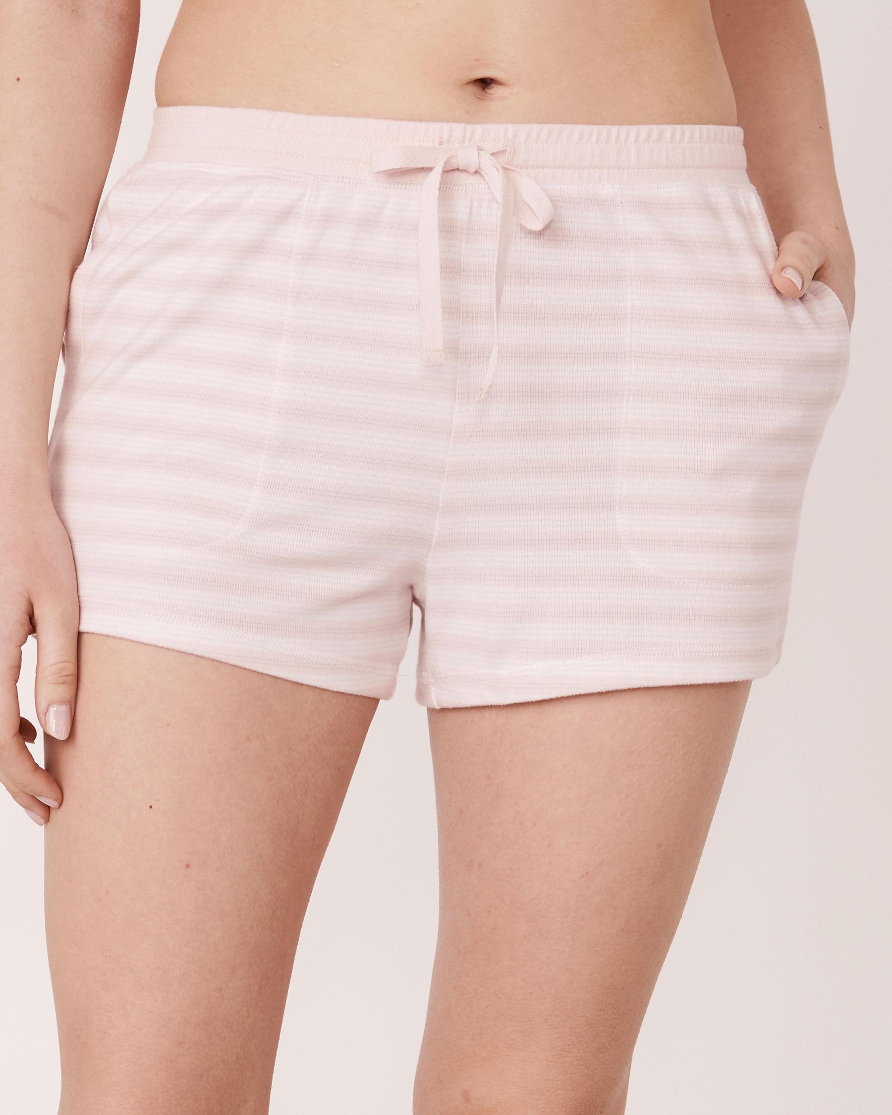 LA VIE EN ROSE Short de pyjama en fibres recyclées Rayures 40200127 - Voir1