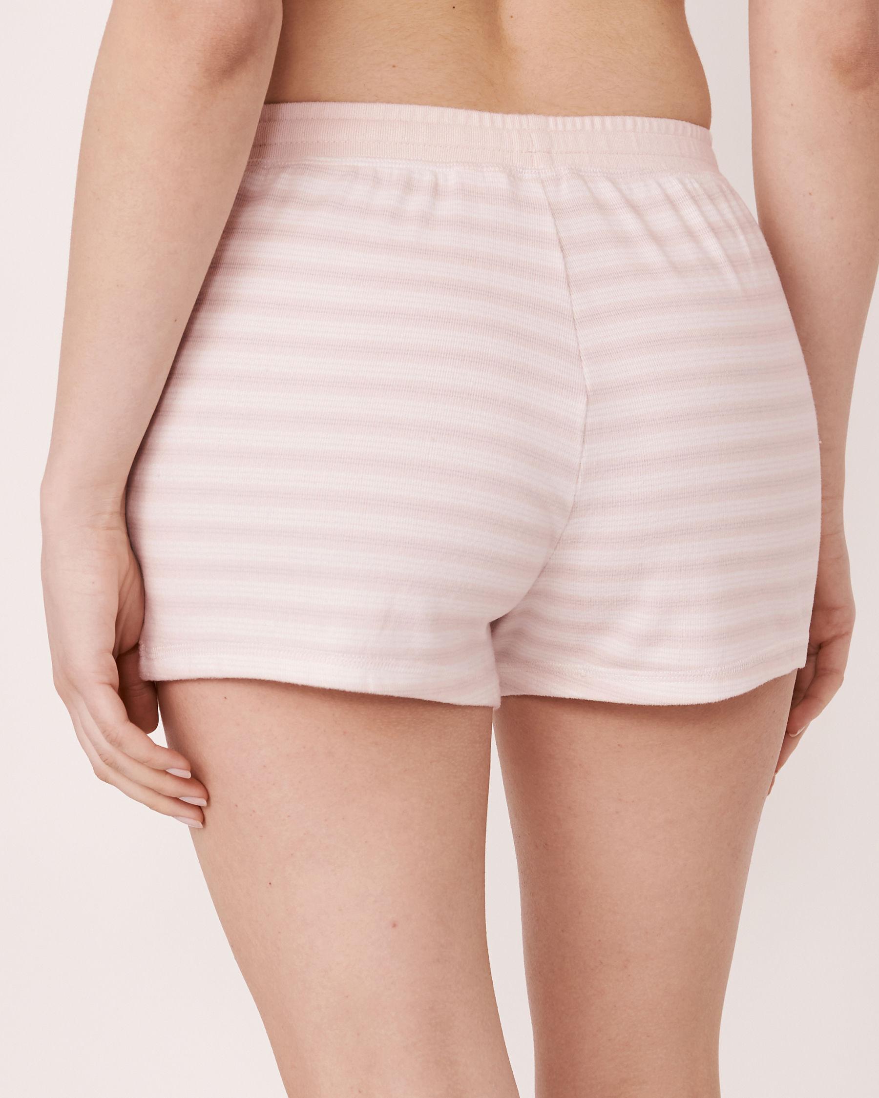 LA VIE EN ROSE Short de pyjama en fibres recyclées Rayures 40200127 - Voir2