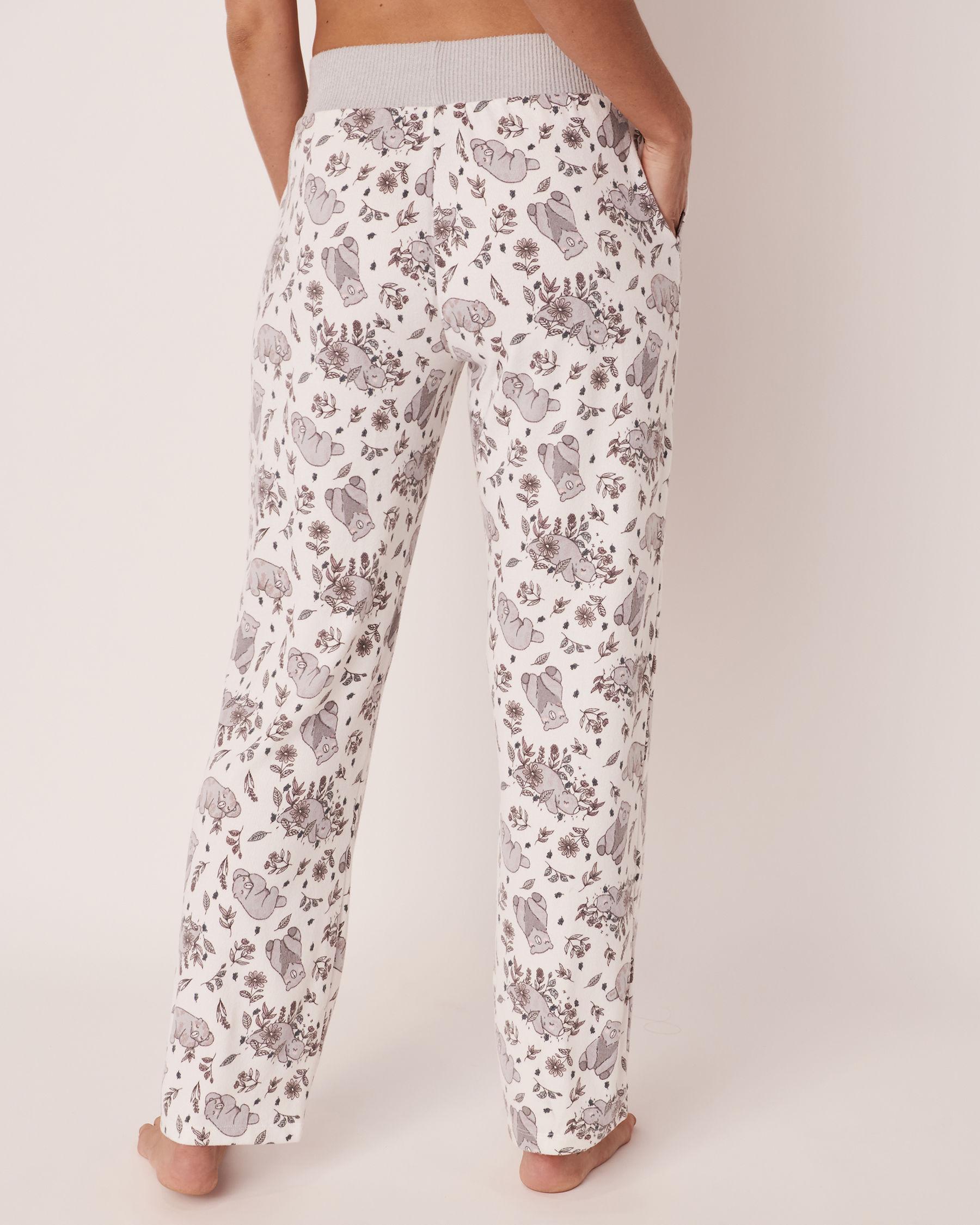 LA VIE EN ROSE Pantalon jambe droite en fibres recyclées Ours 40200134 - Voir2