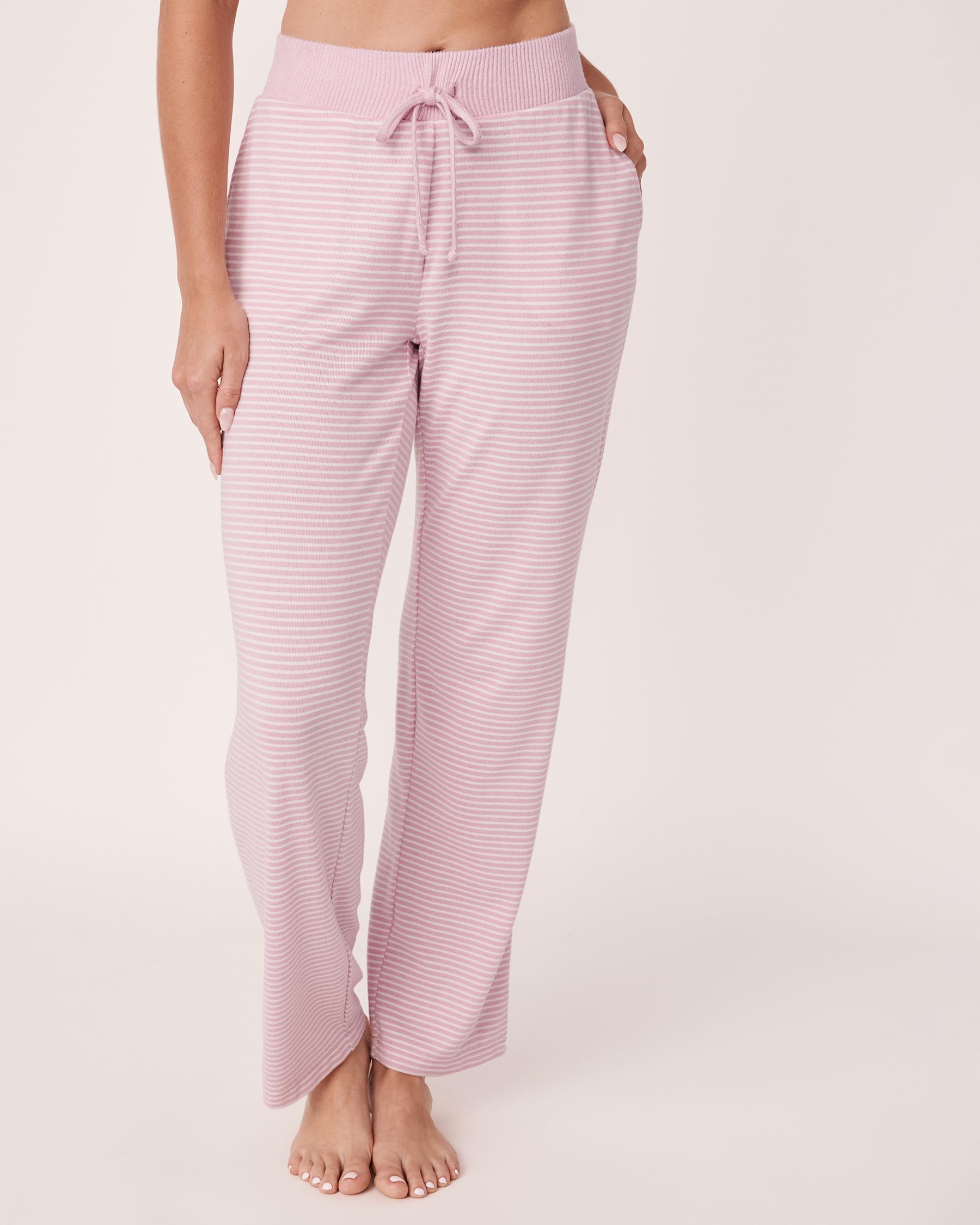 LA VIE EN ROSE Pantalon jambe droite en fibres recyclées Rayures multiples 40200134 - Voir1