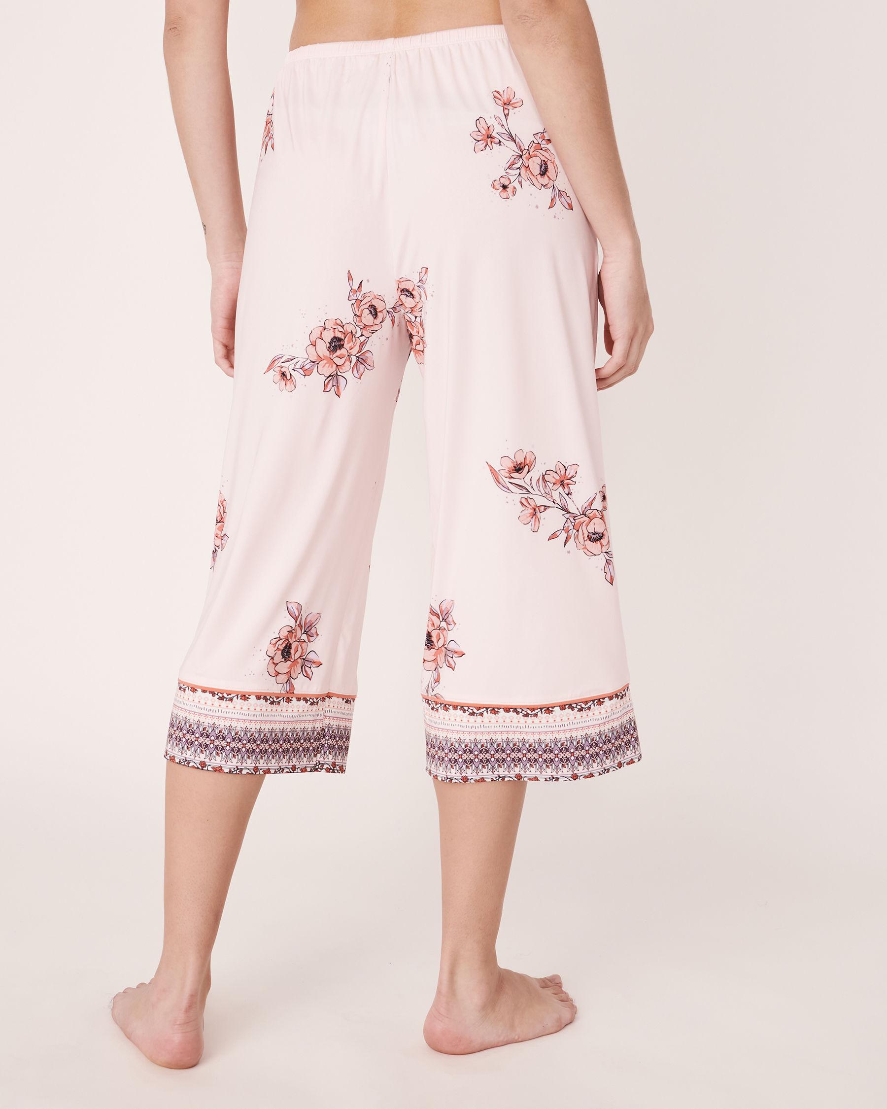 LA VIE EN ROSE Capri jambe large en fibres recyclées Imprimé floral 40200059 - Voir2