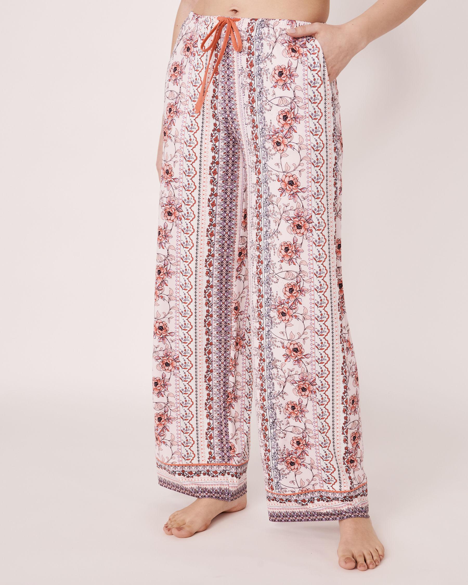 LA VIE EN ROSE Recycled Fibers Wide Leg Pant Vertical flower print 40200060 - View1