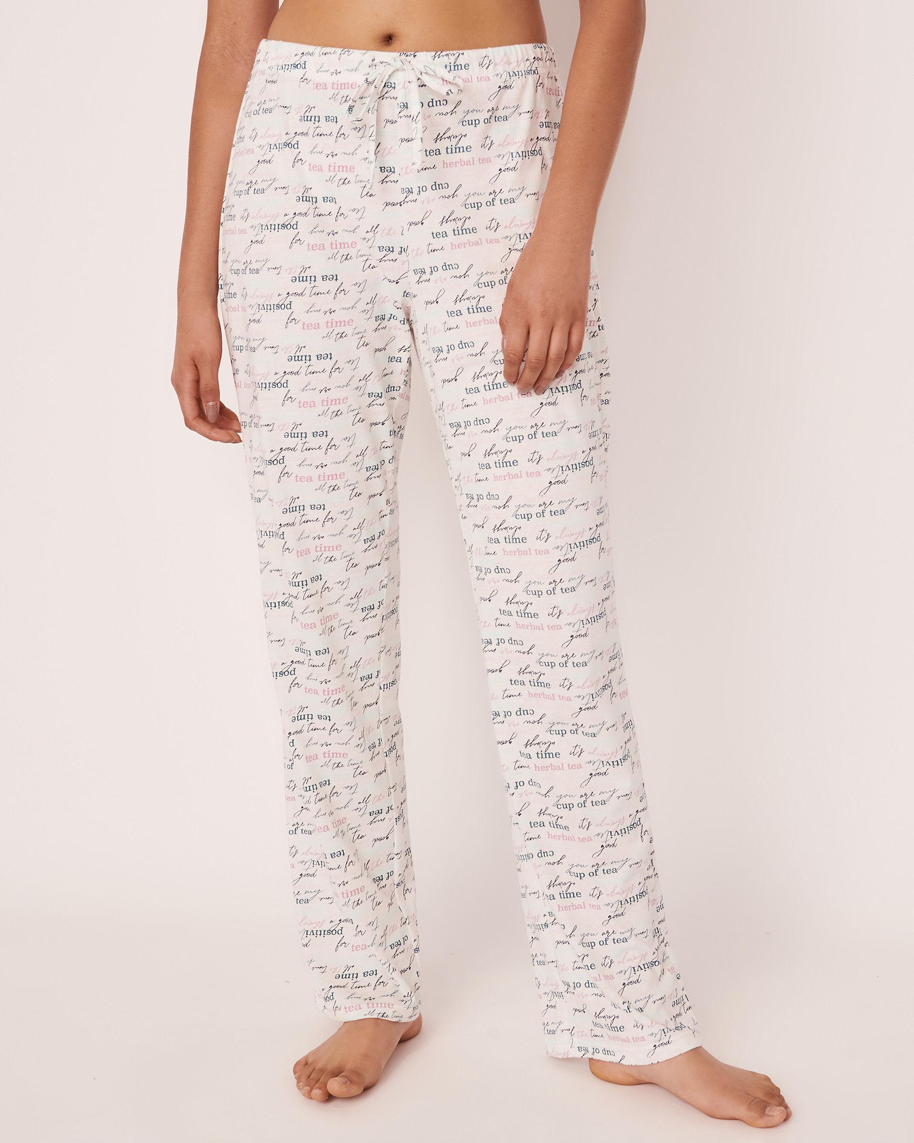 LA VIE EN ROSE Straight Leg Pyjama Pant Wording 40200168 - View1